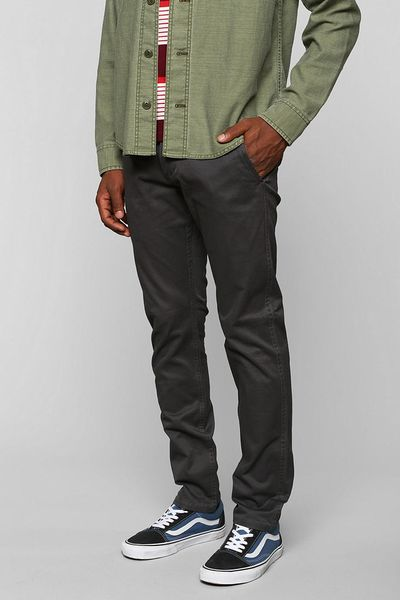 Urban Outfitters Dockers Alpha Skinny Chino Pants In Gray