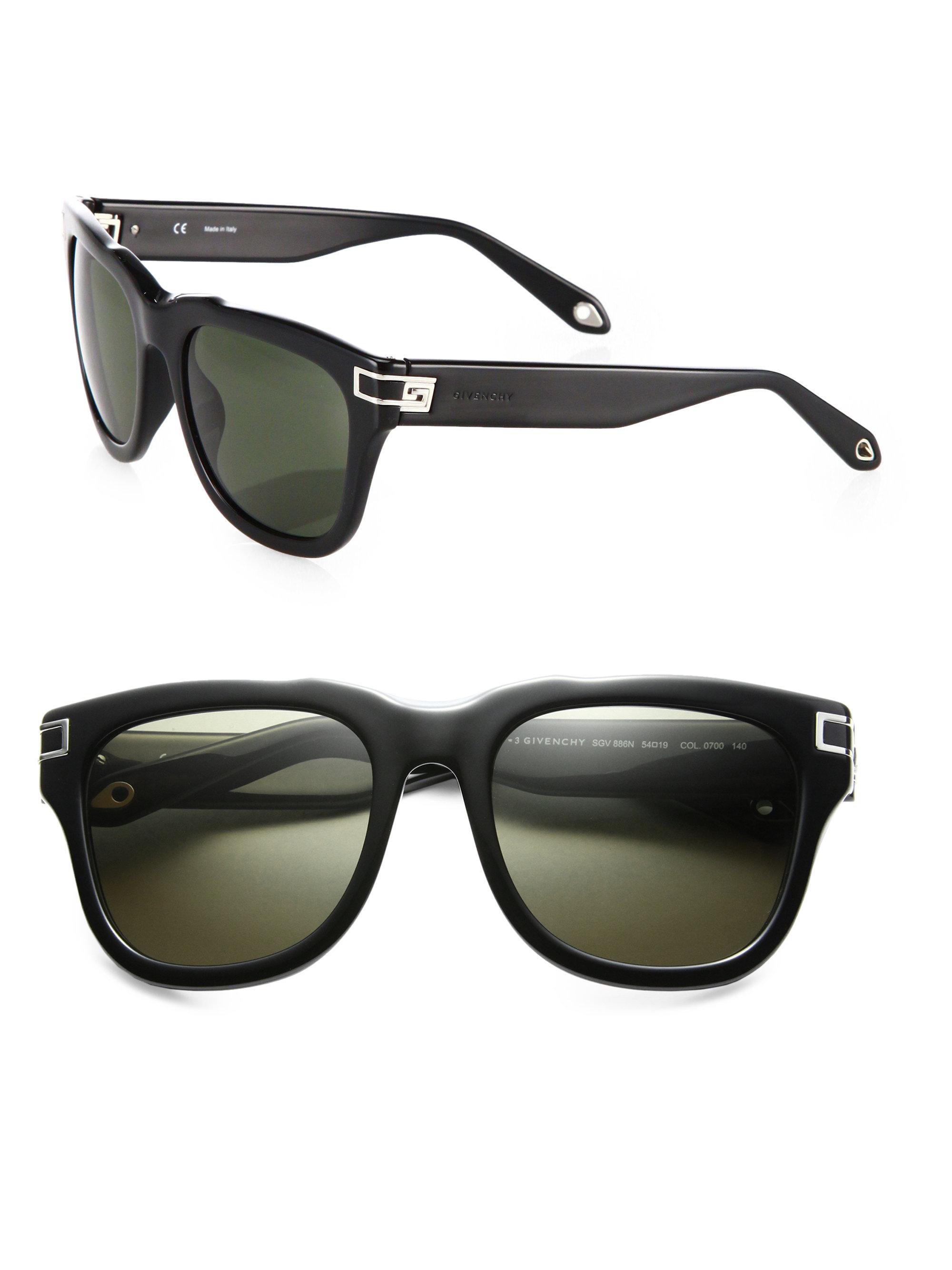 6e0916622aa Givenchy Resin Wayfarer Sunglasses in Black for Men - Lyst