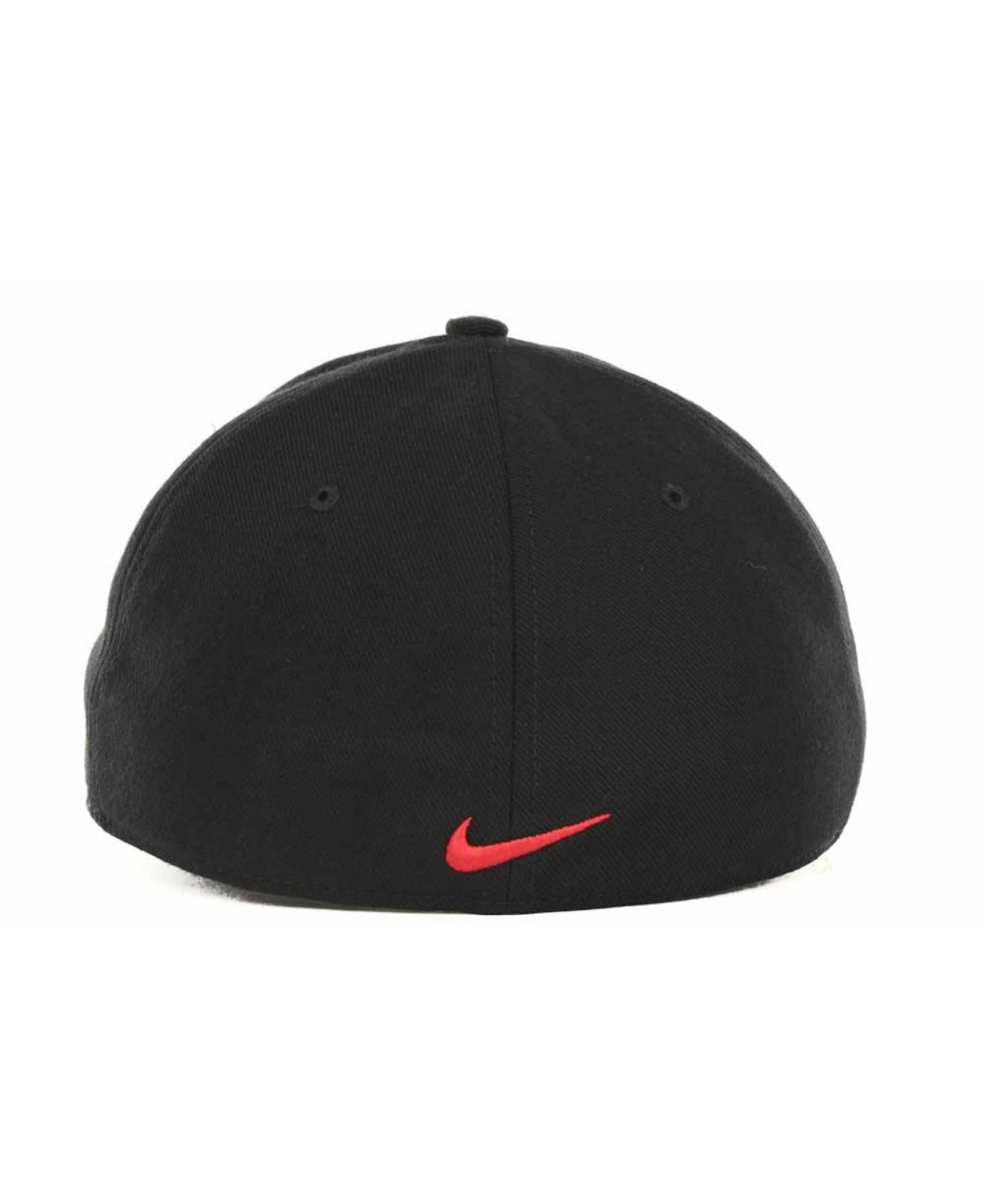 wholesale dealer 9af50 75926 ... hat black logo block a3459 0c3a7  amazon lyst nike ohio state buckeyes  drifit swoosh flex cap in black for men 97103 5da63