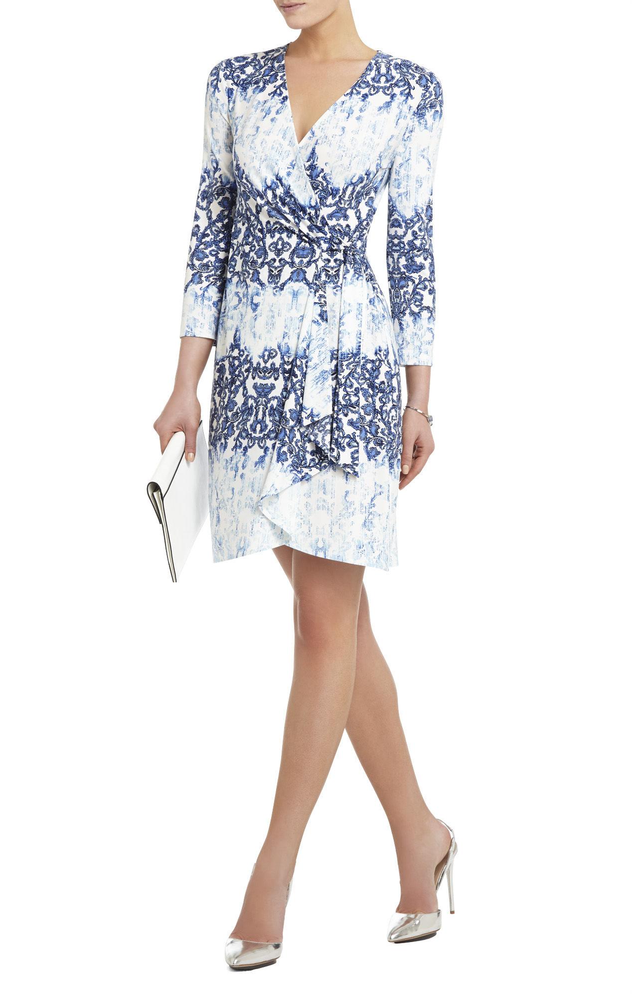 Lyst Bcbgmaxazria Alena Dress Light Aqua Mist Combo In Blue