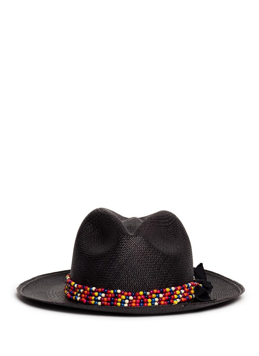 Chapeau Panama Perles - Studio Sensi Noir IWEPEm