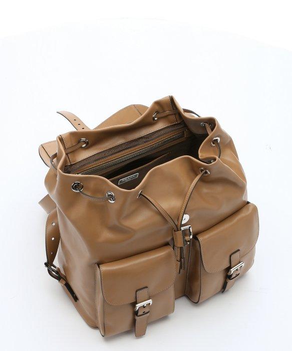 prada brown backpack