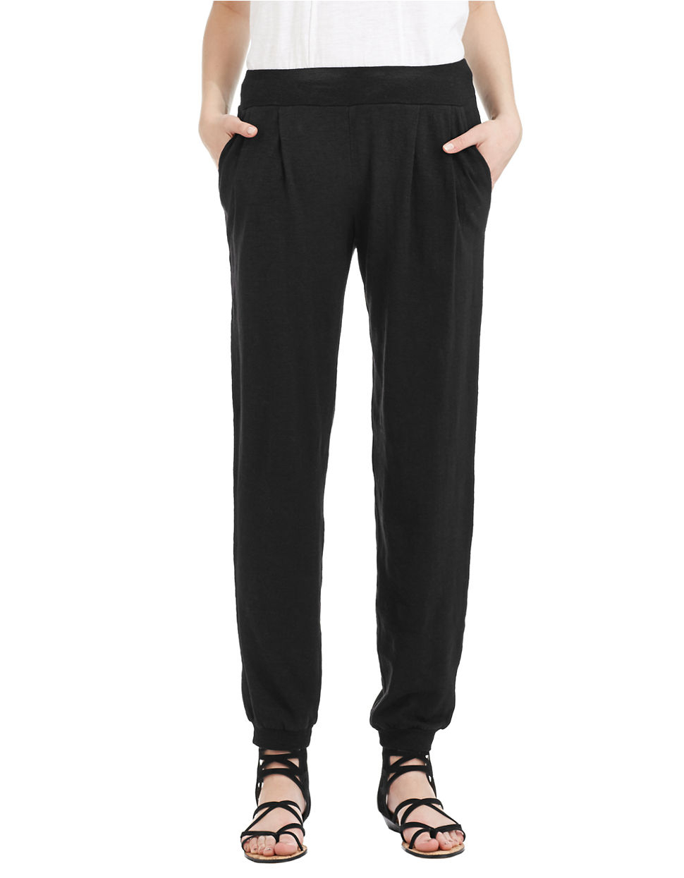 Lyst Eileen Fisher Petite Pleated Jogging Pants In Gray
