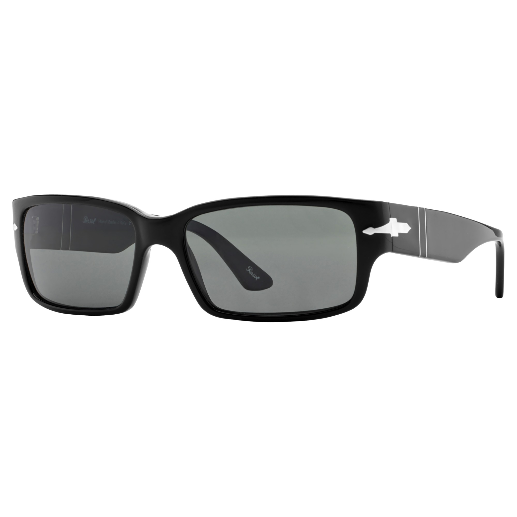 c0e10687d3fef Persol Po3087s Rectangular Framed Sunglasses in Black - Lyst