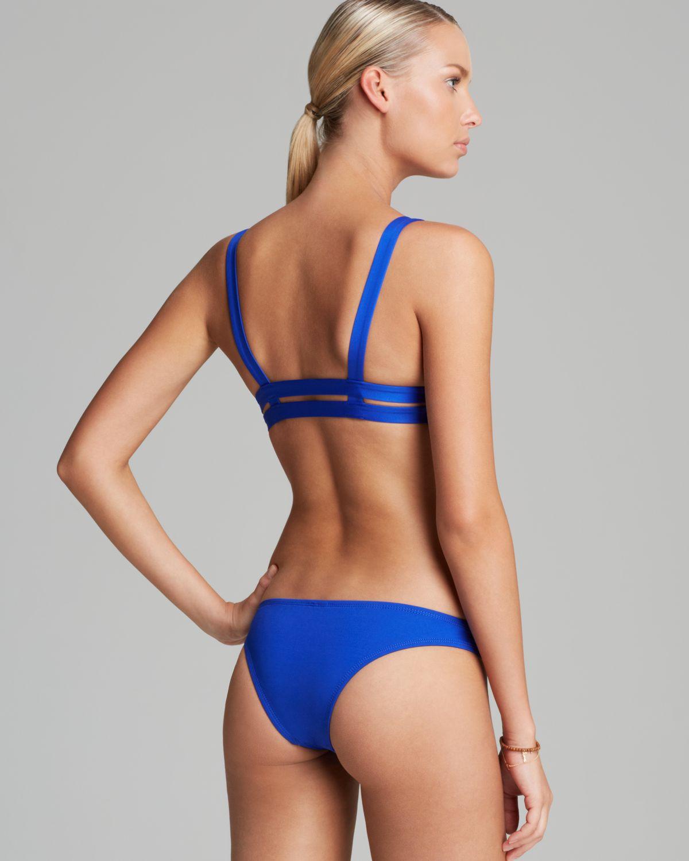 e51b85d379ed3 Lyst - Vitamin A Neutra Bralette Bikini Top in Blue