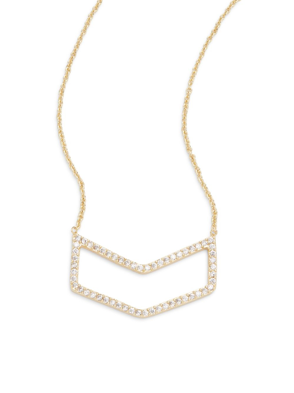 saks fifth avenue pav 233 chevron pendant necklace in