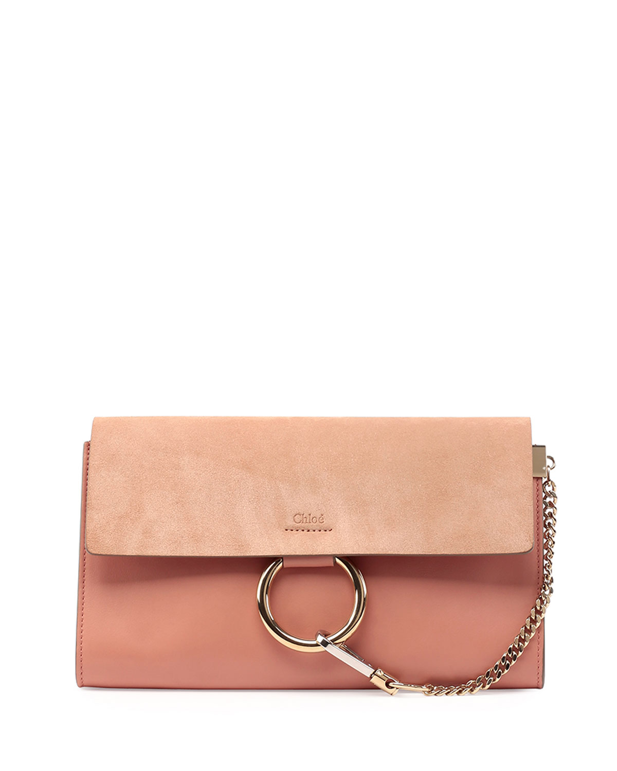 clhoe handbags - Chlo�� Faye Leather & Suede Clutch Bag in Orange | Lyst