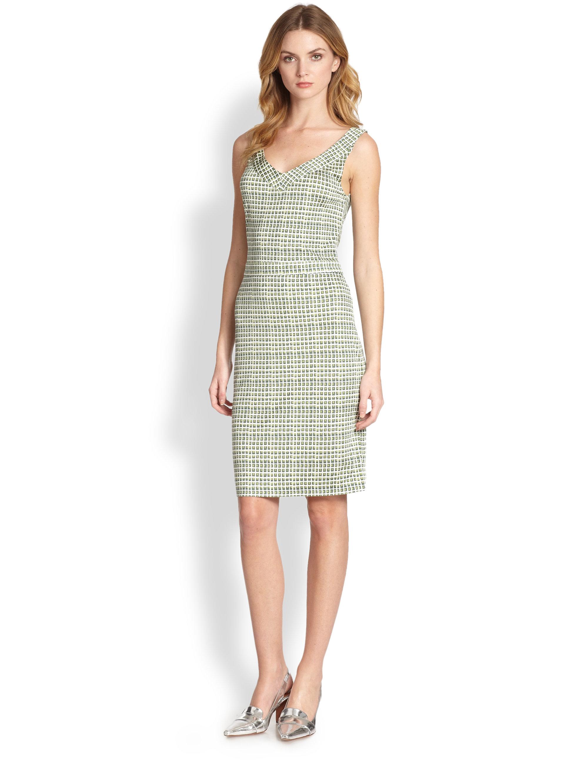 Green silk dress Tory Burch Cheap Sale Authentic ADyGl0