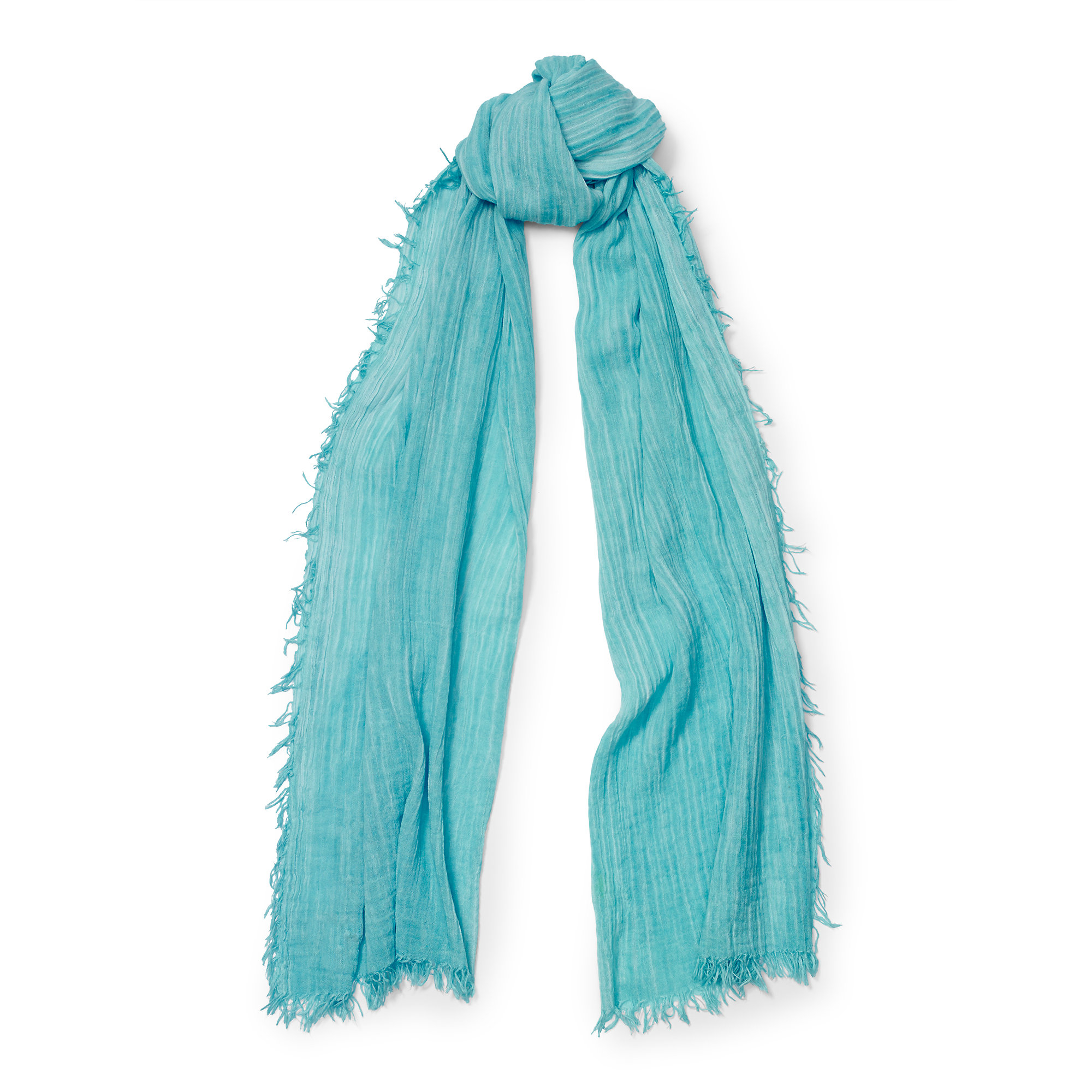 Lyst - Polo Ralph Lauren Crinkled Gossamer Cotton Scarf in Blue ef35538c6af