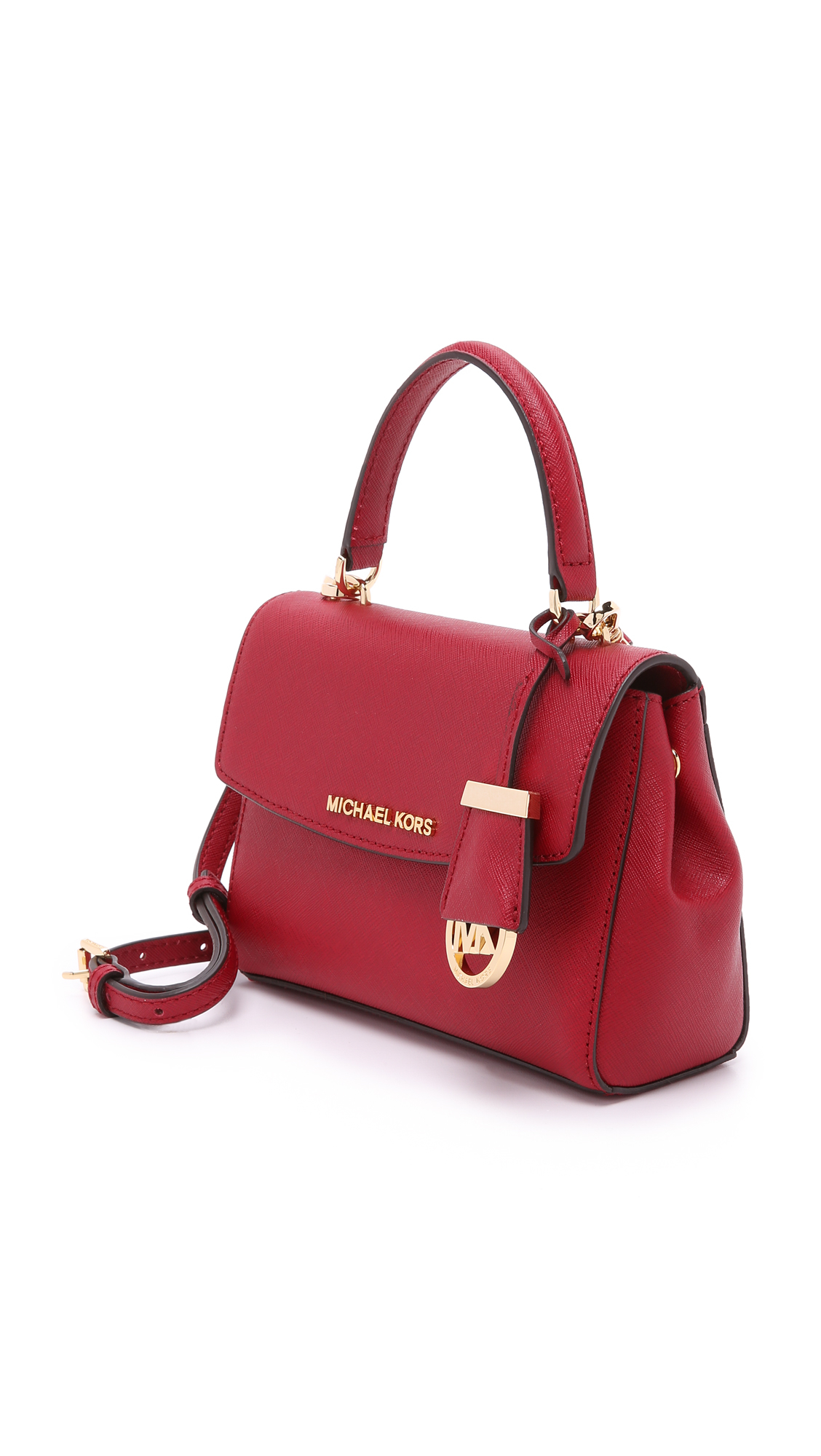 8c359333d2 ... low price lyst michael michael kors ava extra small cross body bag  cherry 6dd90 907c5