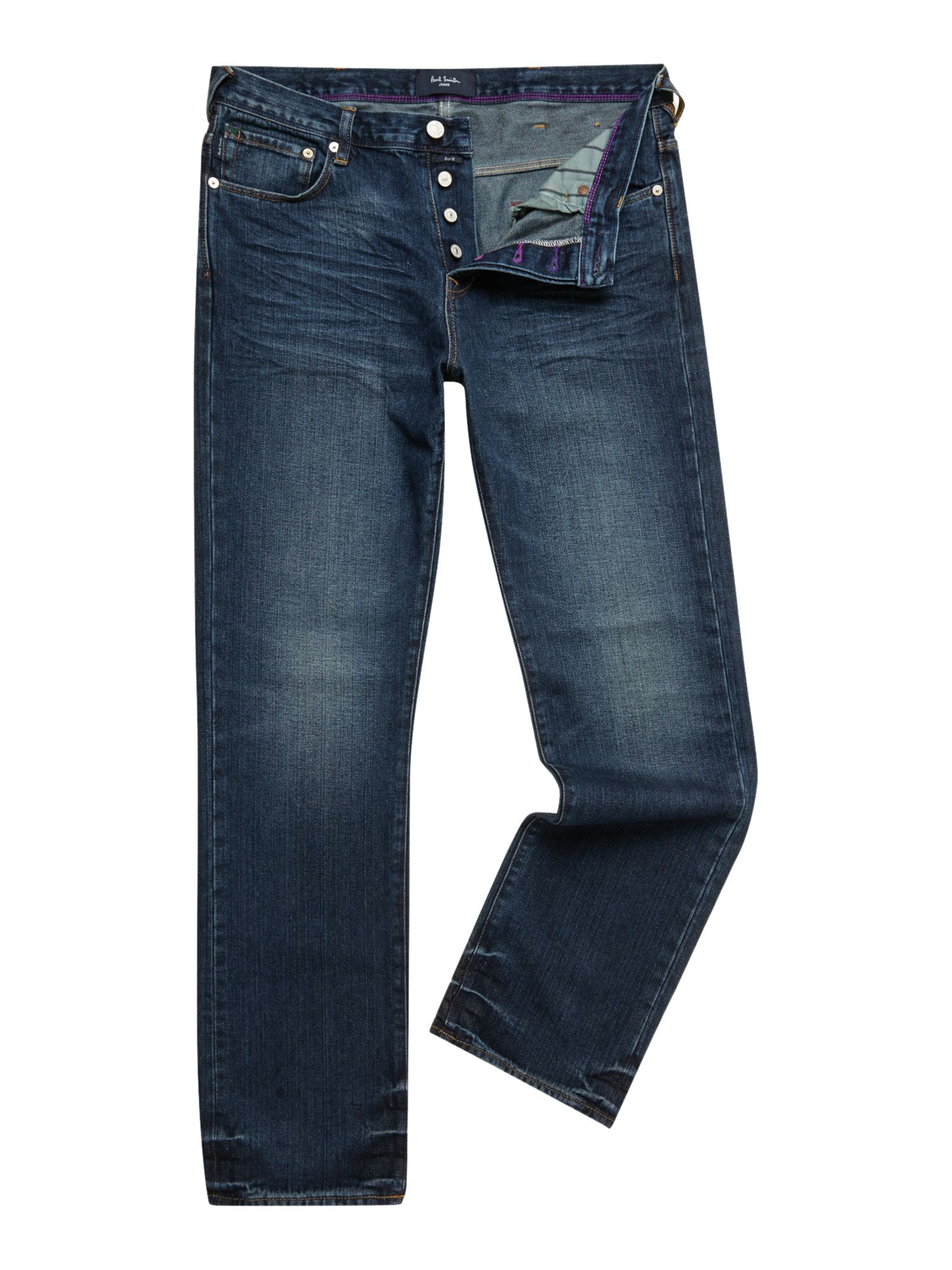 paul smith bootcut light wash jeans in blue for men denim. Black Bedroom Furniture Sets. Home Design Ideas