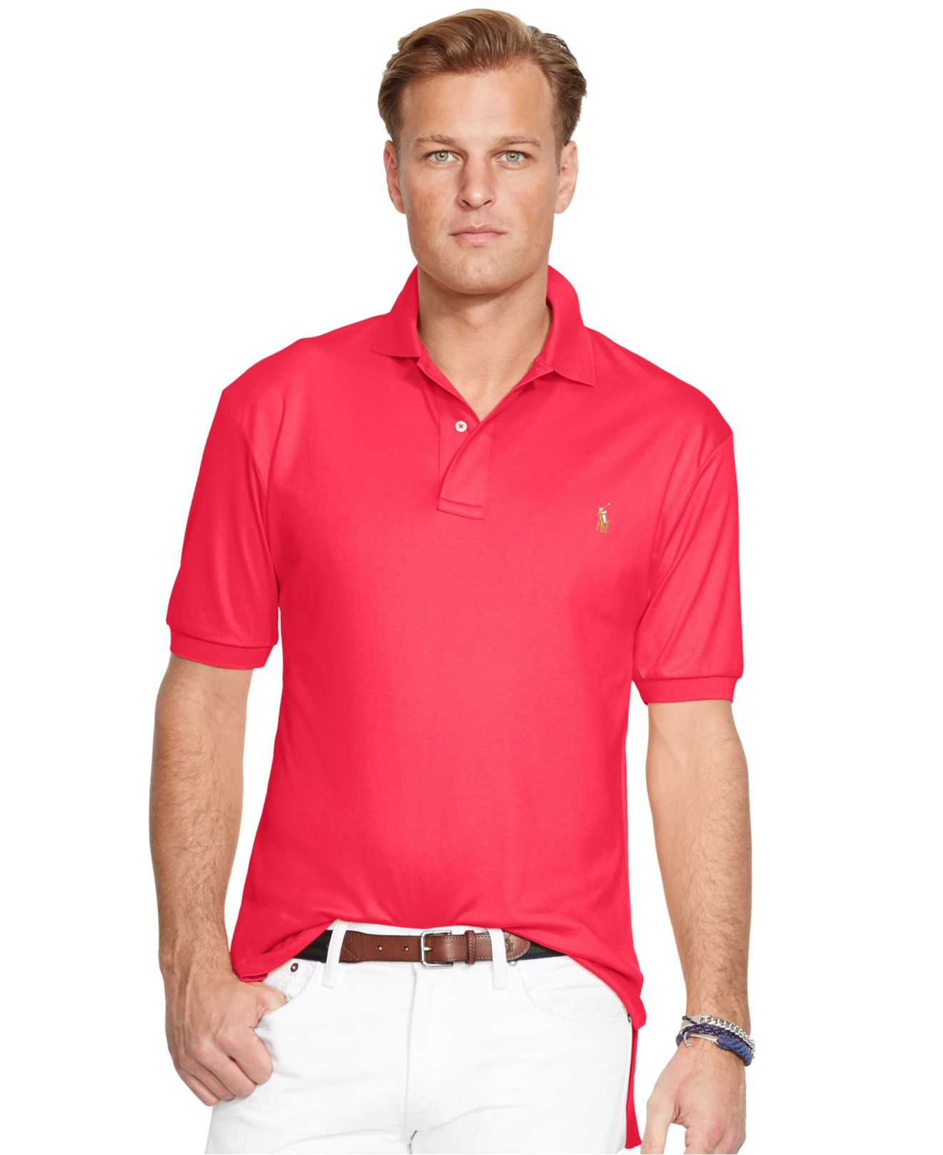 polo ralph lauren big and tall classic fit pima polo shirt