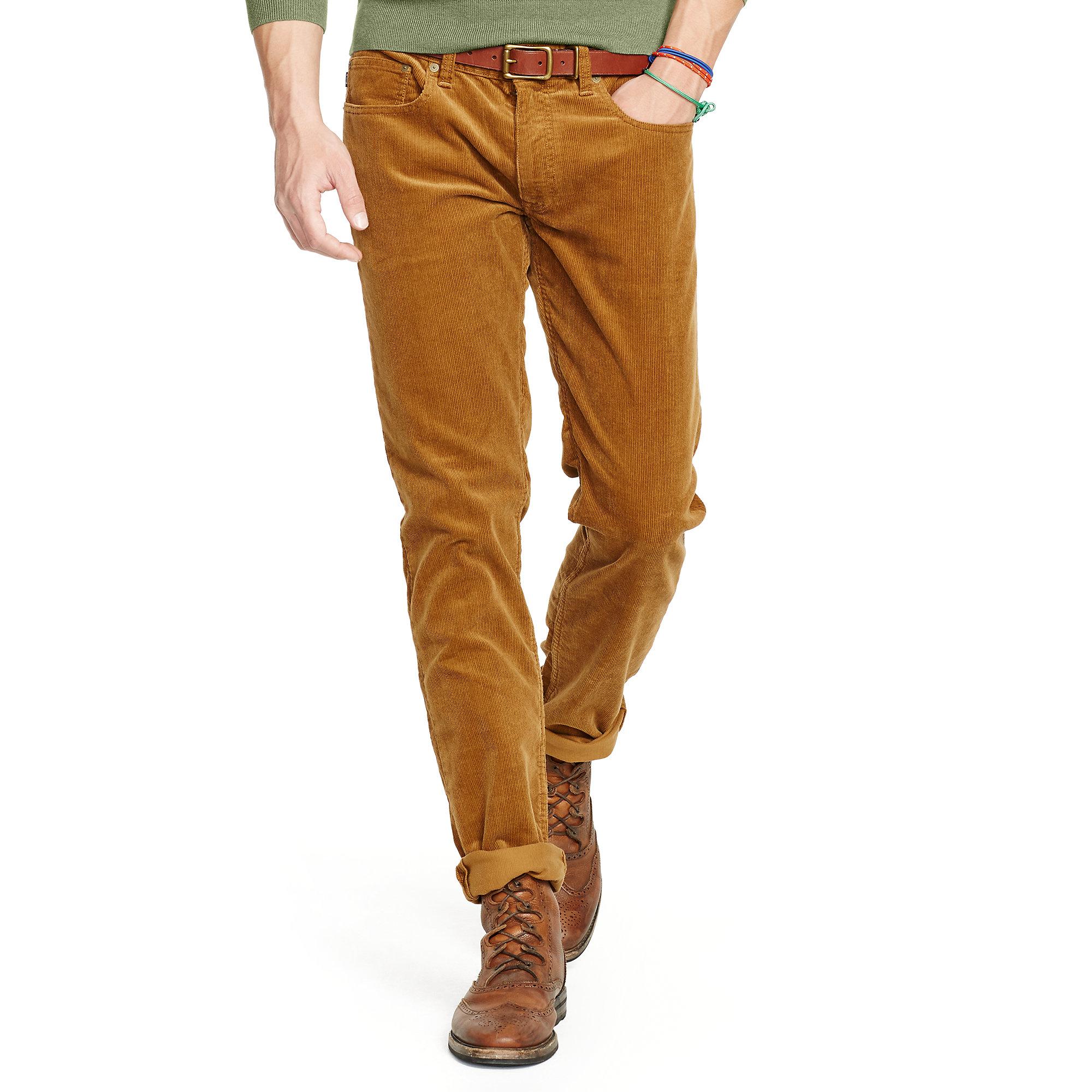 Beautiful  Jeans Brixton Slim Straight Leg Corduroy Pants In Brown For Men Tan