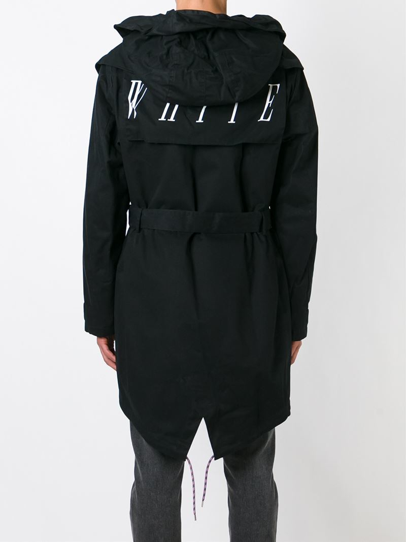 Off-white c/o virgil abloh Mid-length Jacket in Black for Men | Lyst
