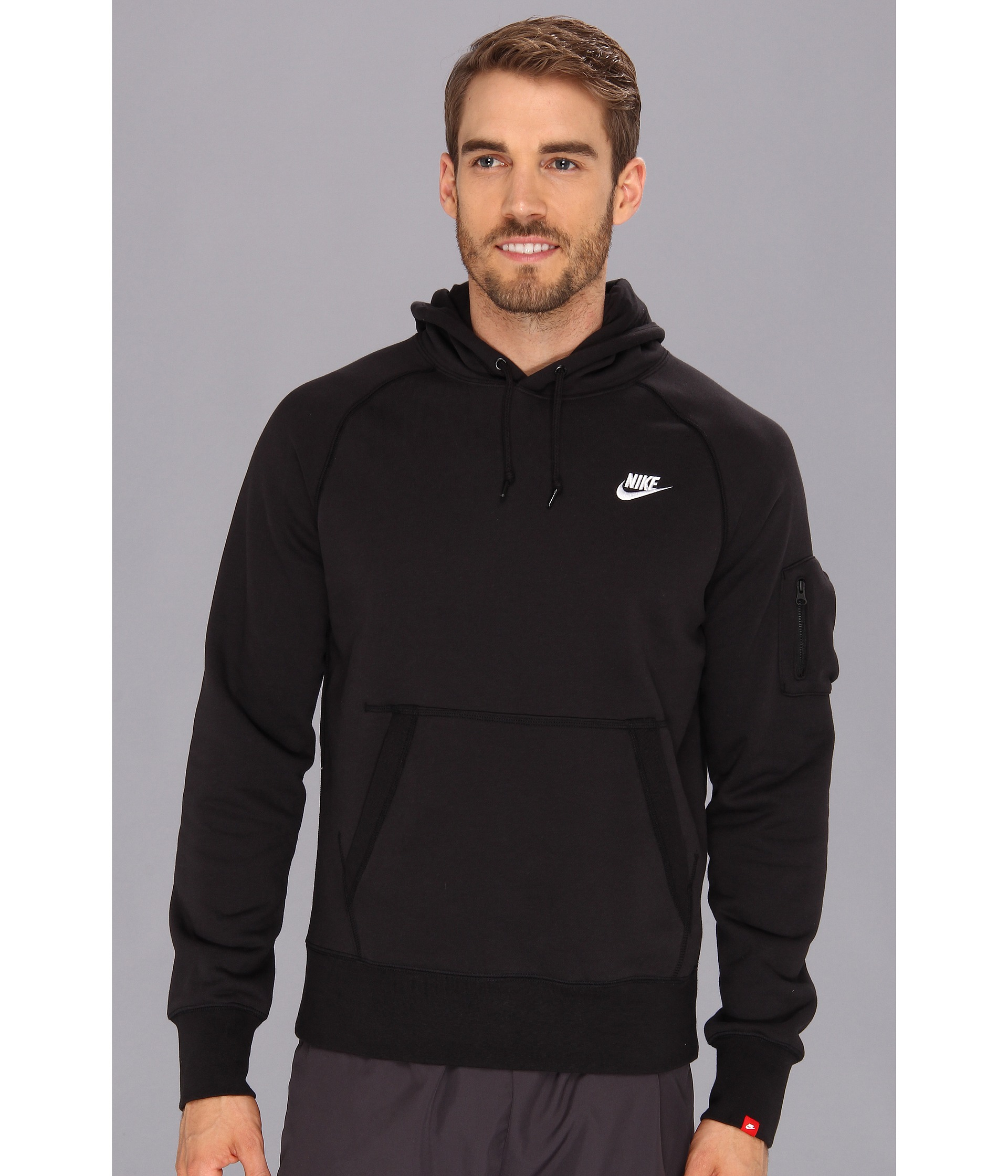 638f8533 Nike Aw77 Fleece Pullover Hoodie in Black for Men - Lyst