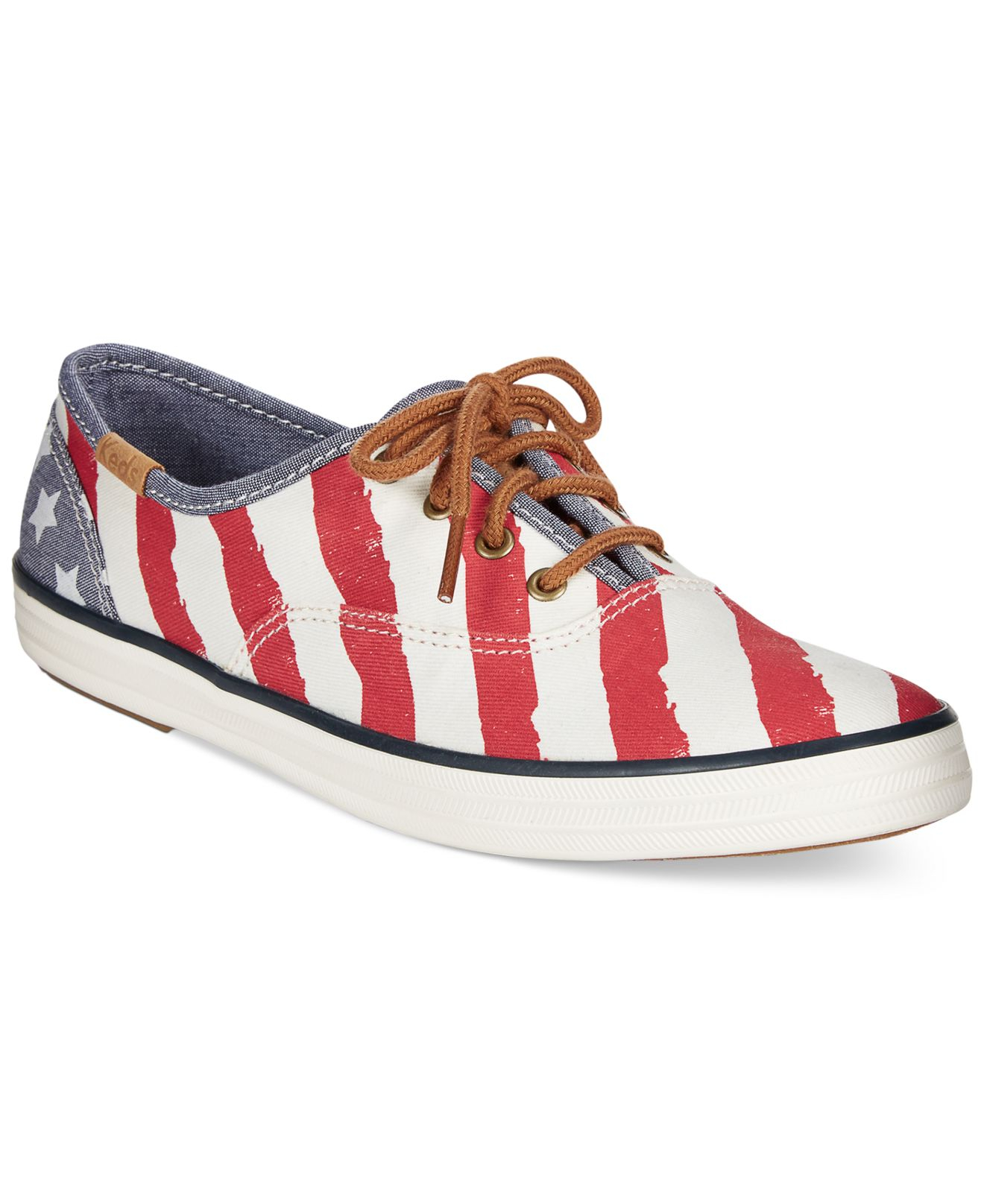 b86feffa5eea Lyst - Keds Women s Champion Patriotic Sneakers in Red