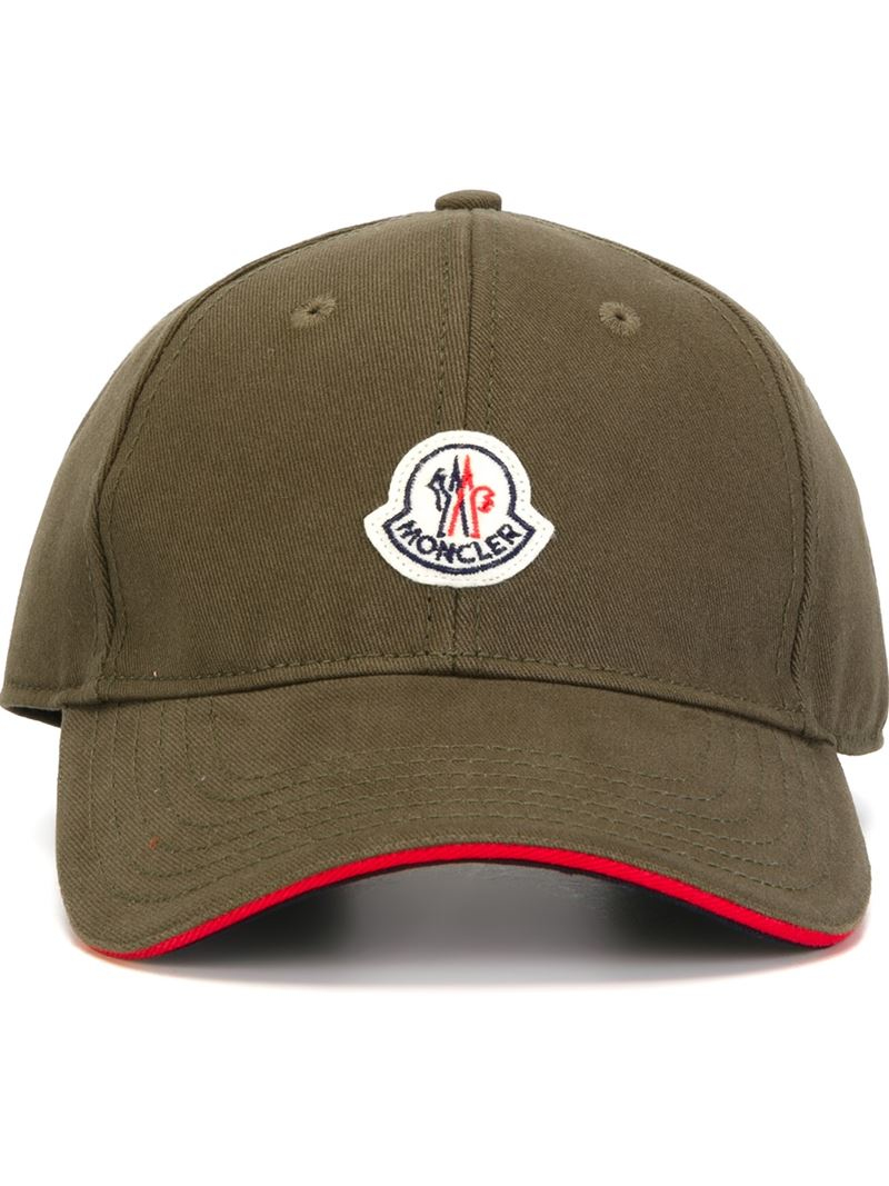 f768c99602f Moncler Classic Baseball Cap in Natural for Men - Lyst