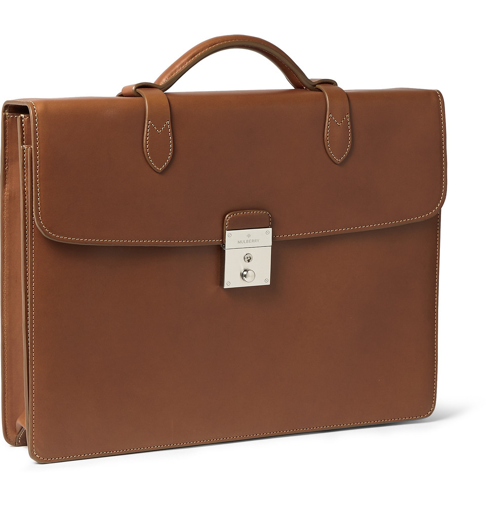 77bfe484ab7b Mulberry Leather Briefcase in Brown for Men - Lyst