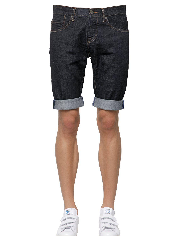 new product 41b51 8d370 adidas Originals Cotton Denim Jean Shorts in Blue - Lyst