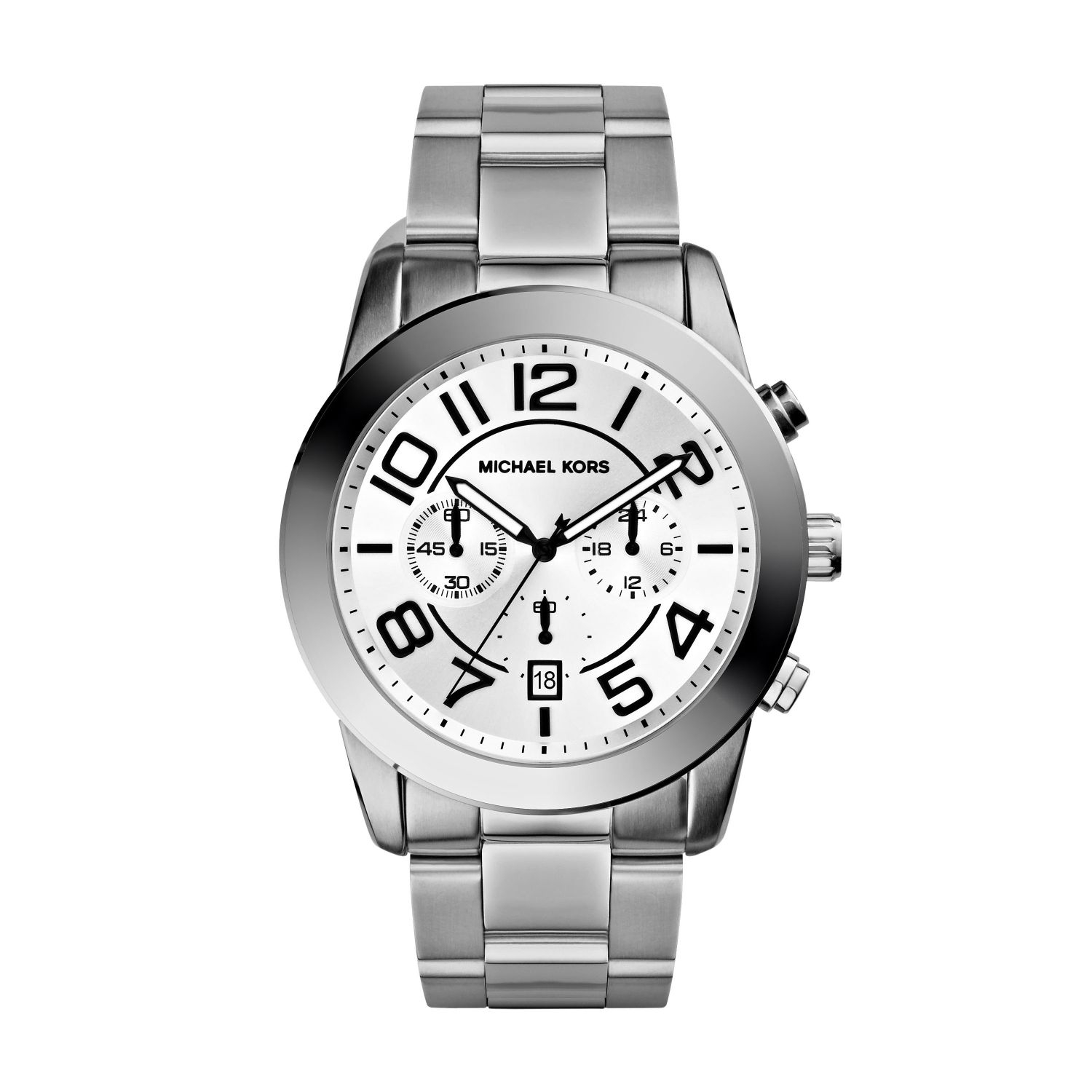 3df04cc4866c Lyst - Michael Kors Mercer Silver-tone Watch in Metallic for Men