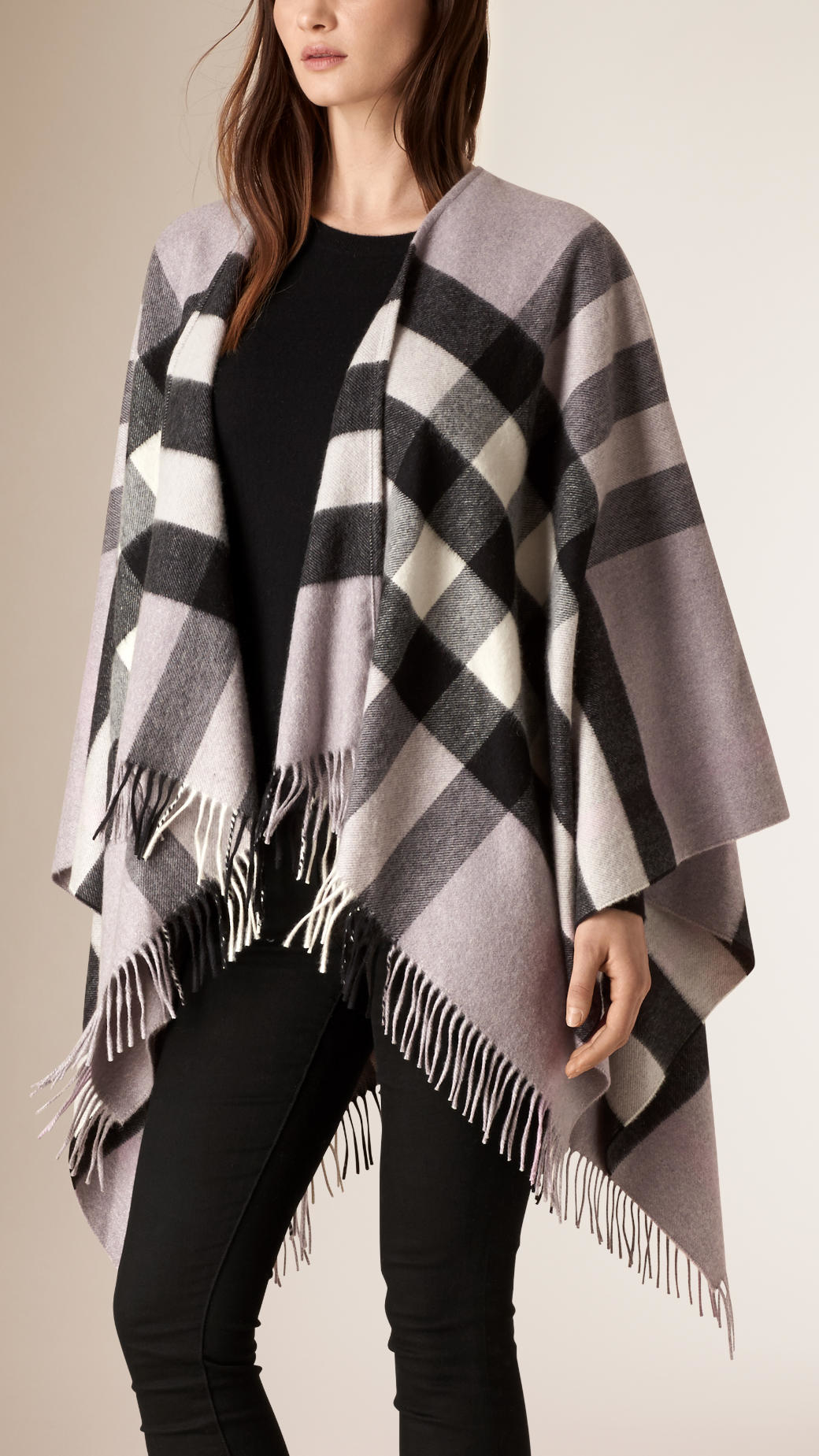 Burberry Check Cashmere and Wool Poncho Shopping Online Cheap Outlet Shop Offer Cheap Online Cheap 2018 Newest Cheap Genuine 0ouPpbH
