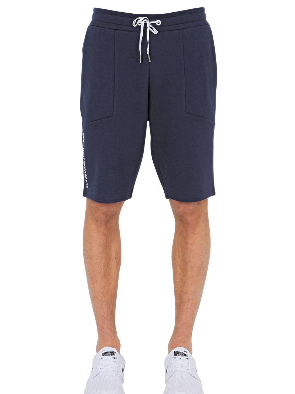 Peak performance Cotton Blend Jogging Shorts in Blue for Men | Lyst