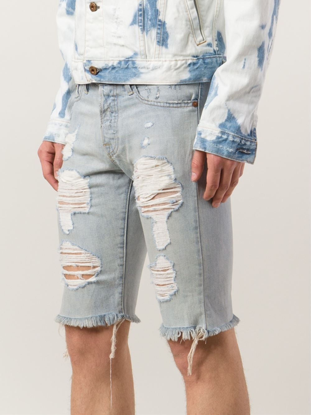 Bliss and mischief Distressed Denim Shorts in Blue for Men | Lyst