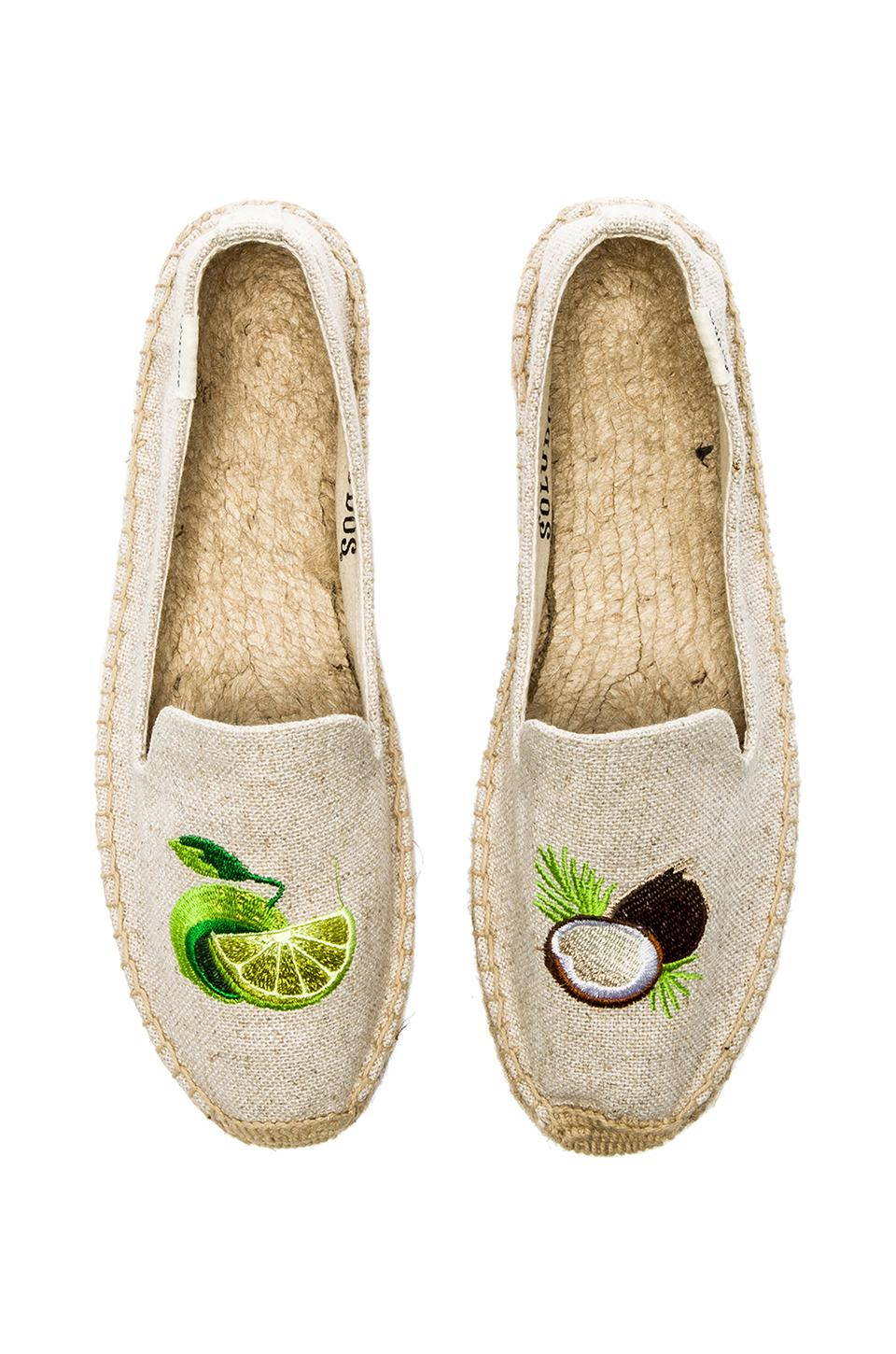 Lyst Soludos Lime Amp Coconut Embroidered Espadrilles In