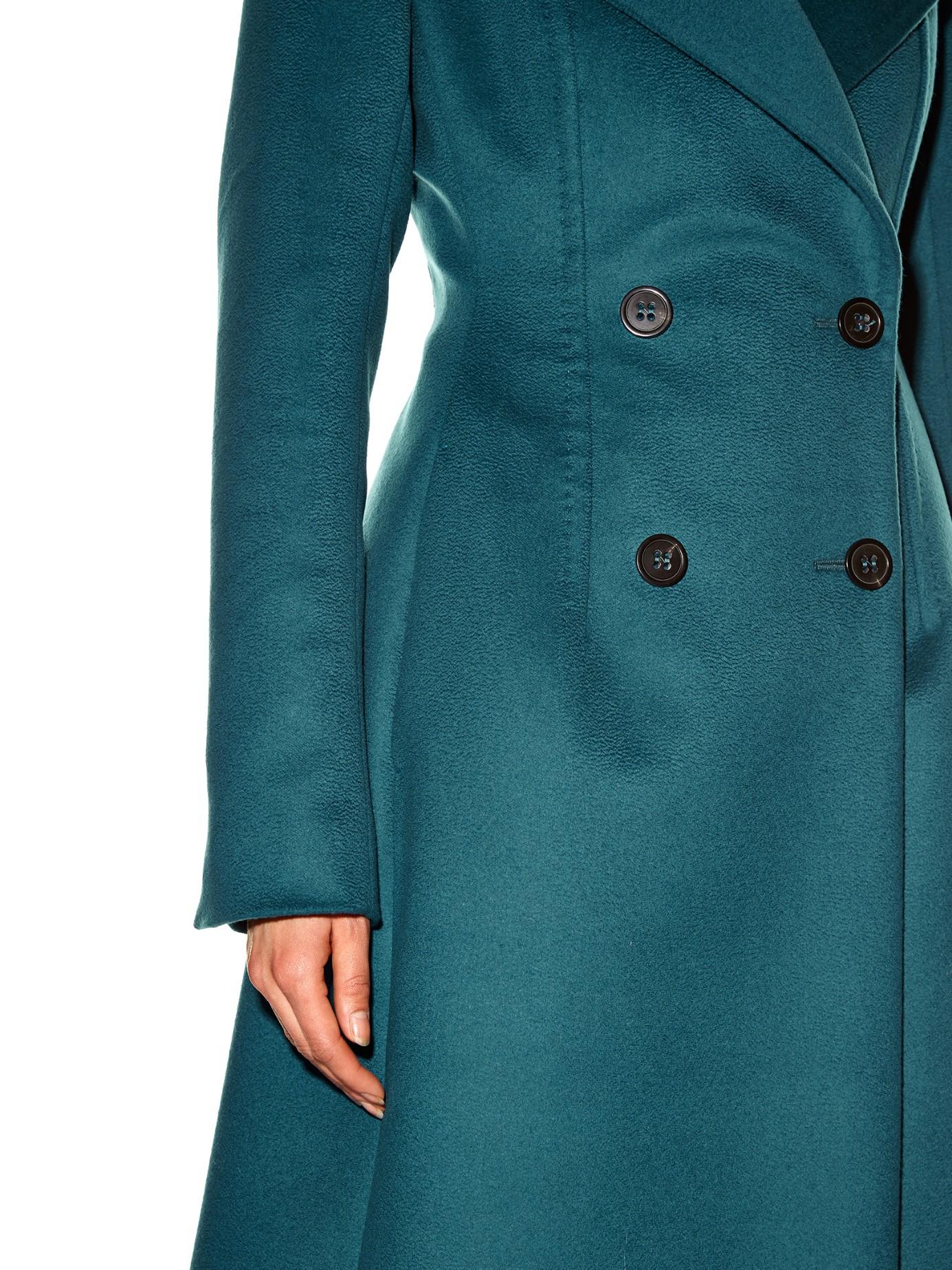 Lyst Sportmax Maine Coat In Blue