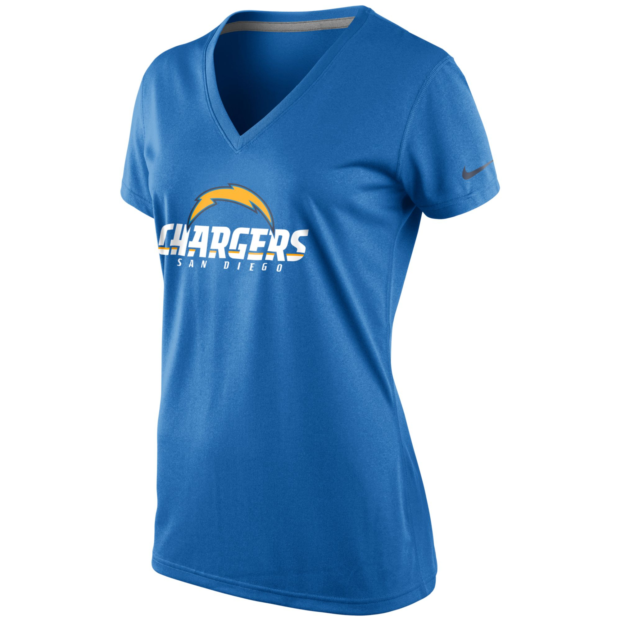 San Diego Chargers Dress: Nike Womens Shortsleeve San Diego Chargers Vneck Tshirt In