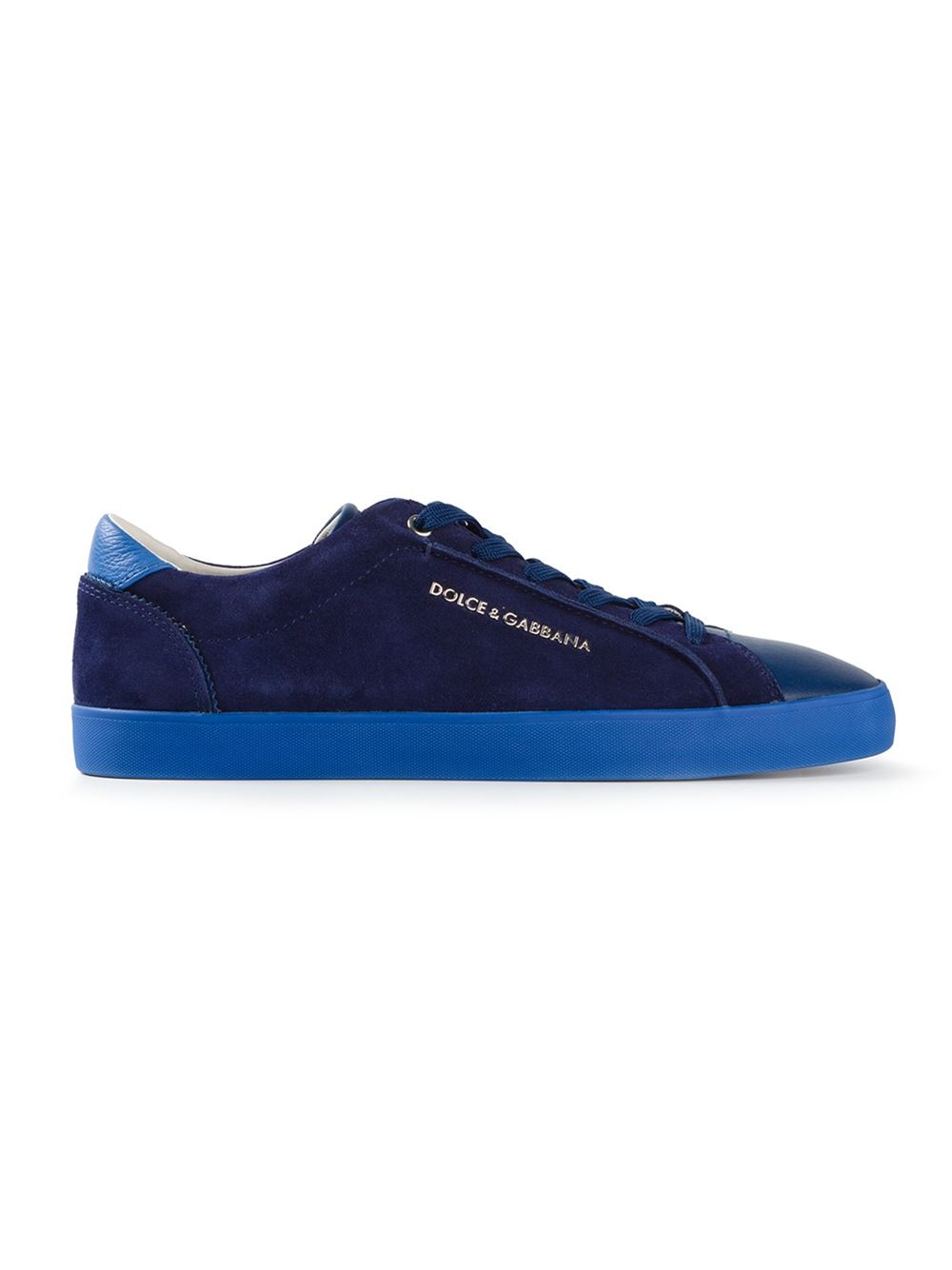 dolce gabbana lace up sneakers in blue for men lyst. Black Bedroom Furniture Sets. Home Design Ideas