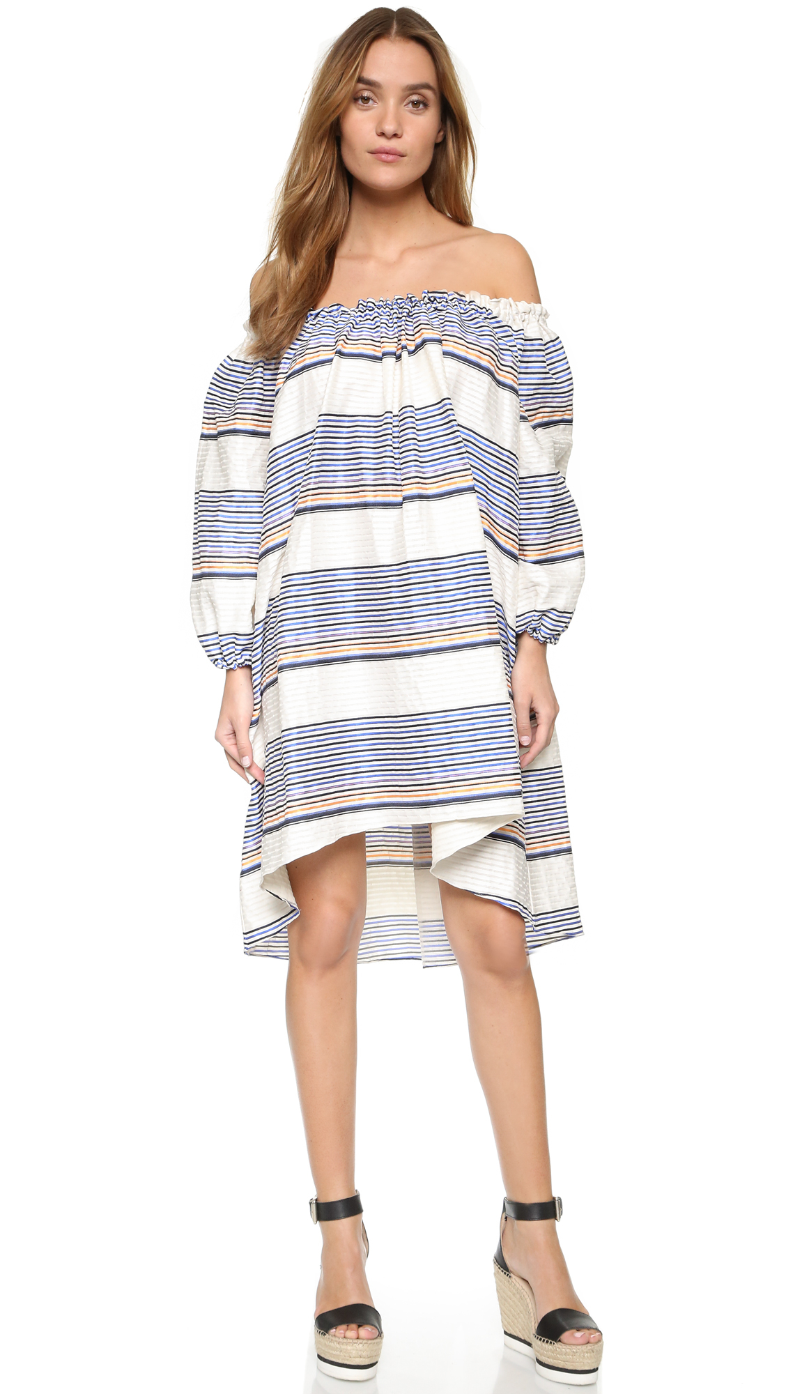 Taylor sunset stripe maxi dress