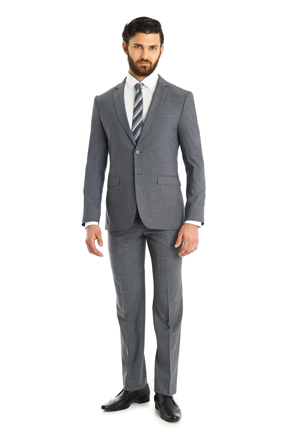 A crisp slim fit suit is essential for the daily grind, weddings, parties, and any other event you can imagine. Slim Fit. Jack NEW Braveman Men's 2-Piece Slim-Fit Suit with Tie - Light Grey - .