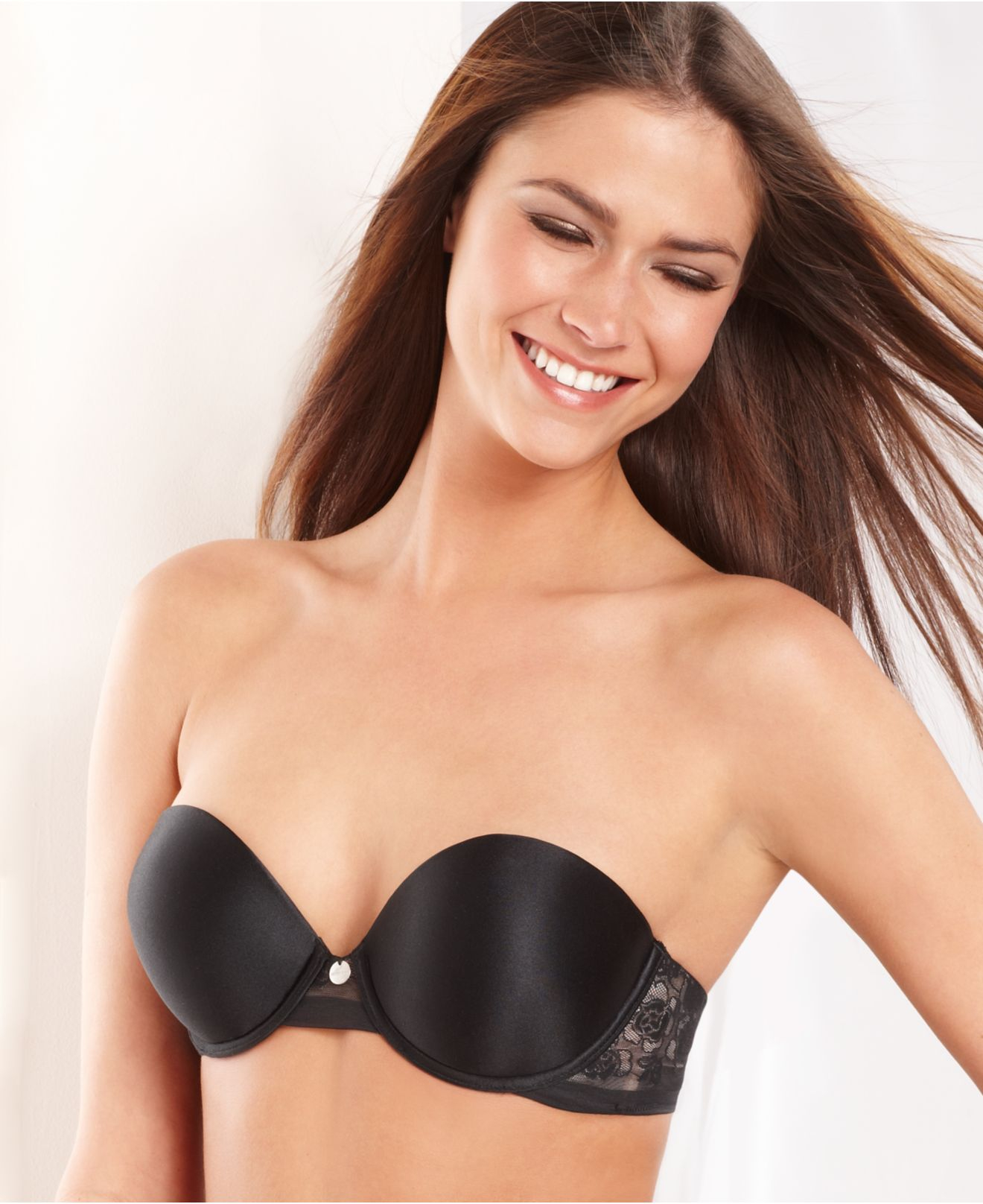 c49b731eb1 Lyst - DKNY Super Glam Add 2 Cup Sizes Push Up Bra 458111 in Black