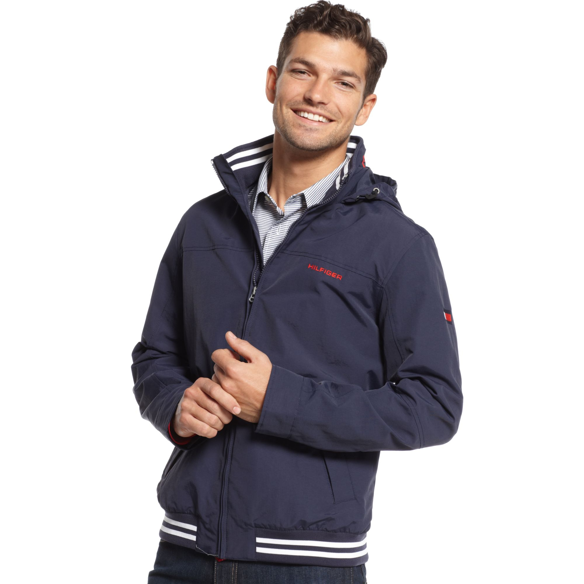 tommy hilfiger core regatta jacket in blue for men sailor. Black Bedroom Furniture Sets. Home Design Ideas