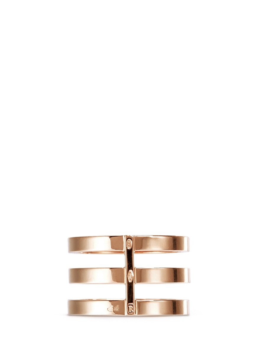 Rose Gold Triple Band Berbere Ring Repossi WlyjdEX8p