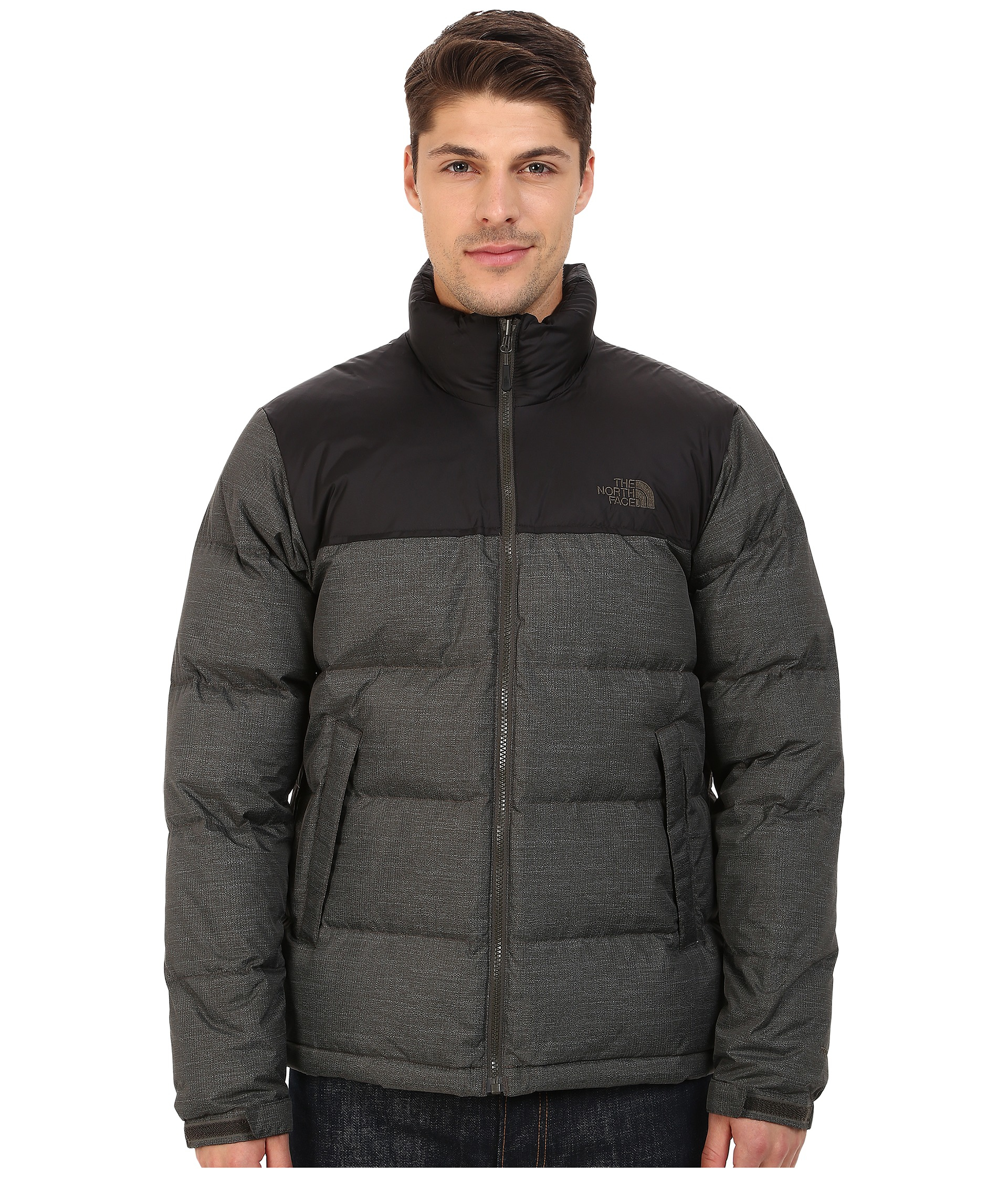 the north face nuptse jacket in black for men lyst. Black Bedroom Furniture Sets. Home Design Ideas