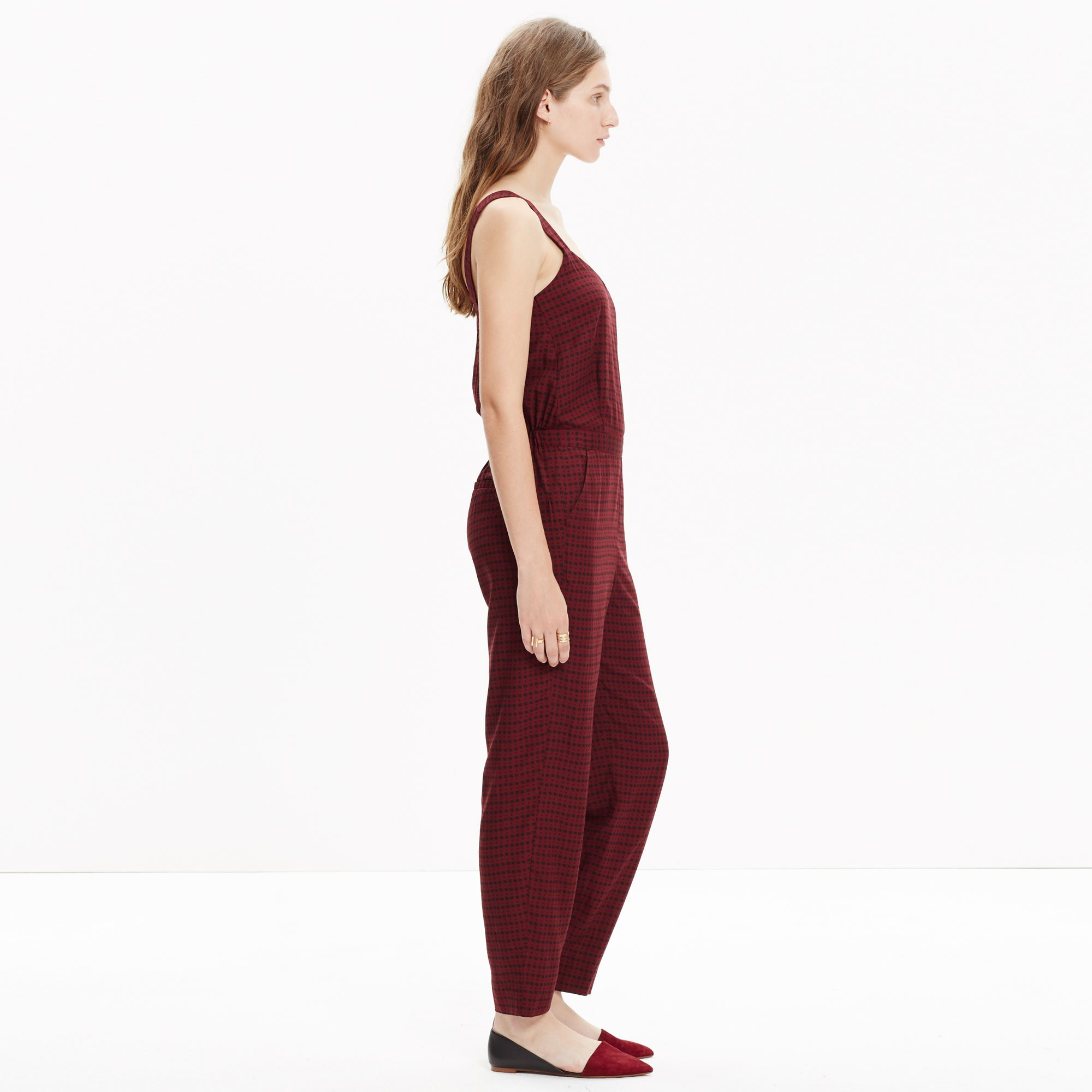 e1fe168cdf3f Lyst - Madewell Tompkins Tank Jumpsuit In Hashtag Stripe in Red