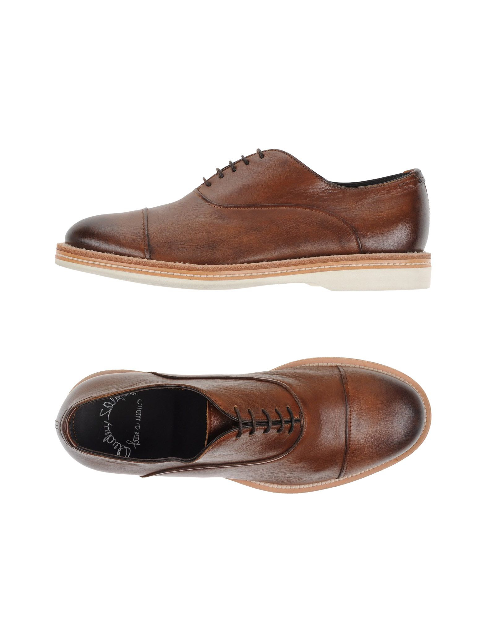 Santoni Stacked Heel Oxford Shoes In Brown For Men | Lyst
