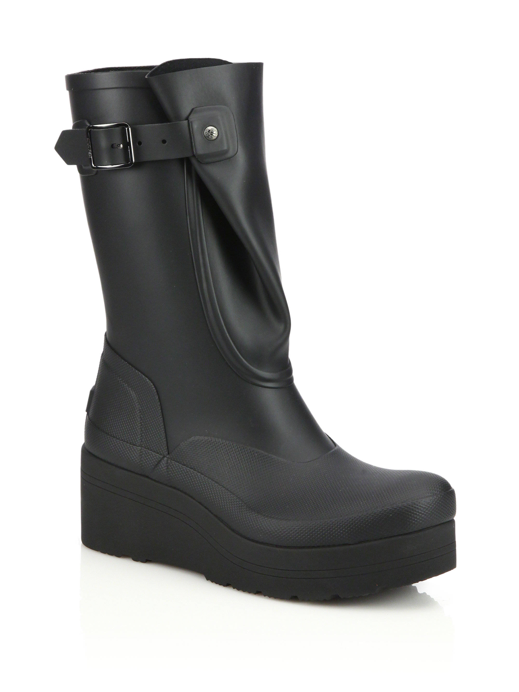 original galosh low wedge boots in black lyst