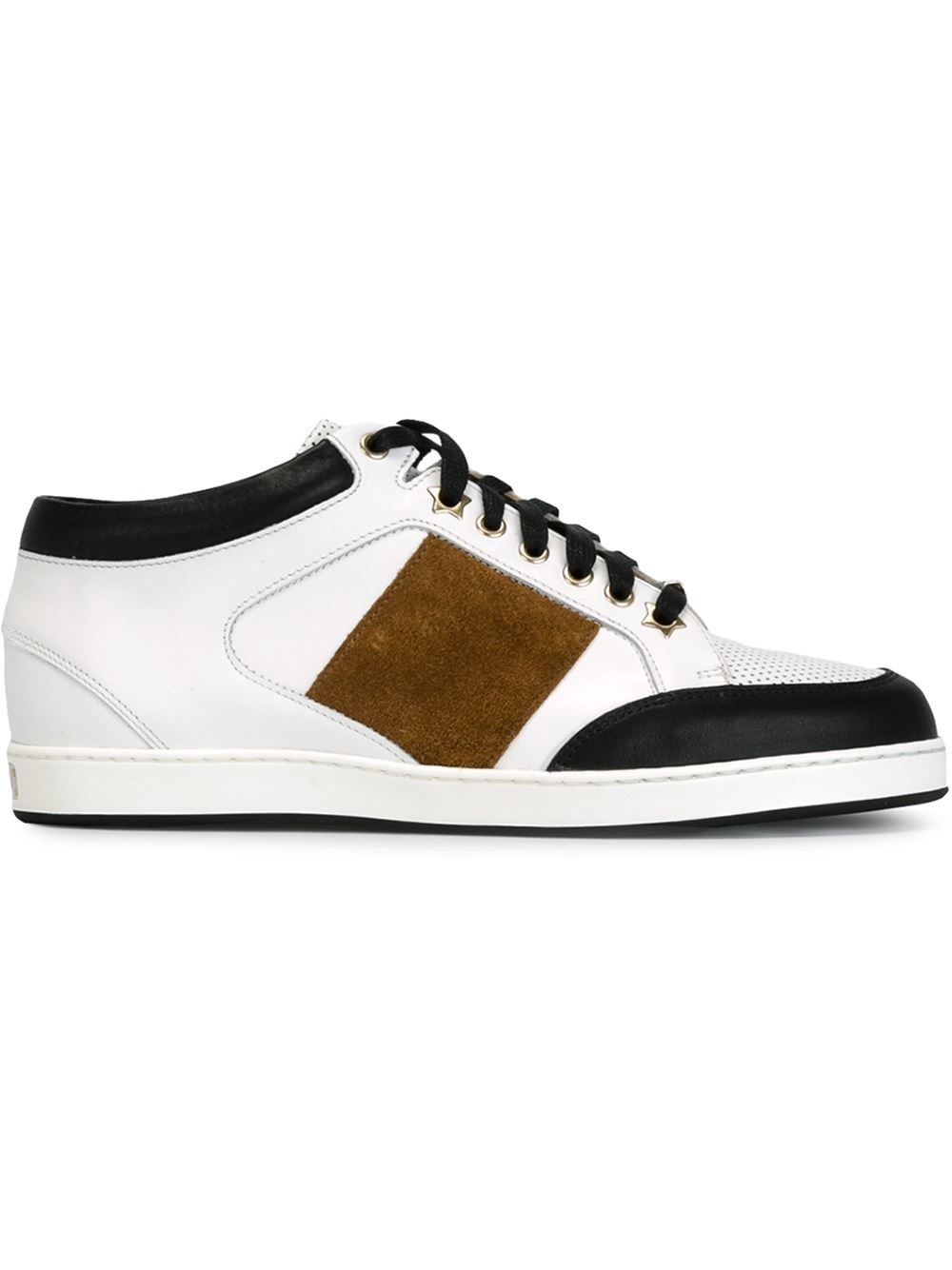 jimmy choo 39 miami 39 sneakers in white lyst. Black Bedroom Furniture Sets. Home Design Ideas