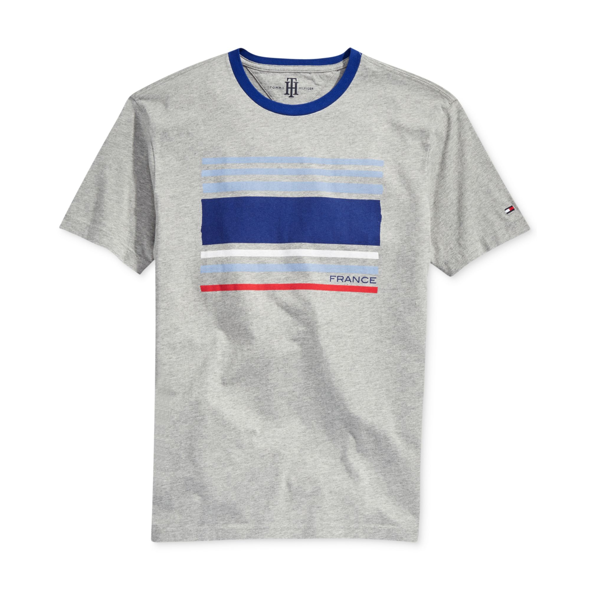 Lyst - Tommy Hilfiger France World Cup Tshirt in Gray for Men 0051b23bb198