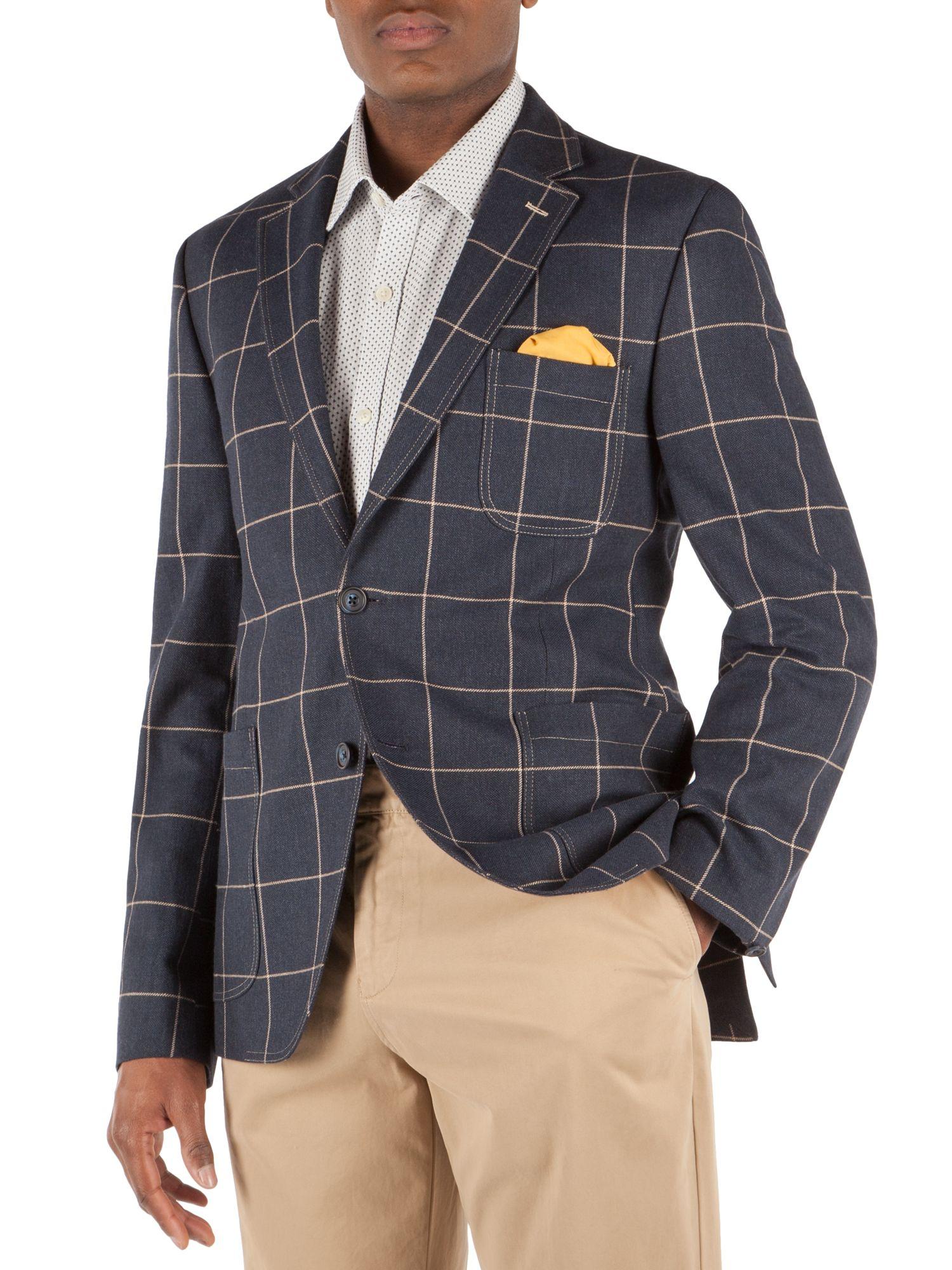 Blue Check Blazer Mens - Hazard Golf Clothing