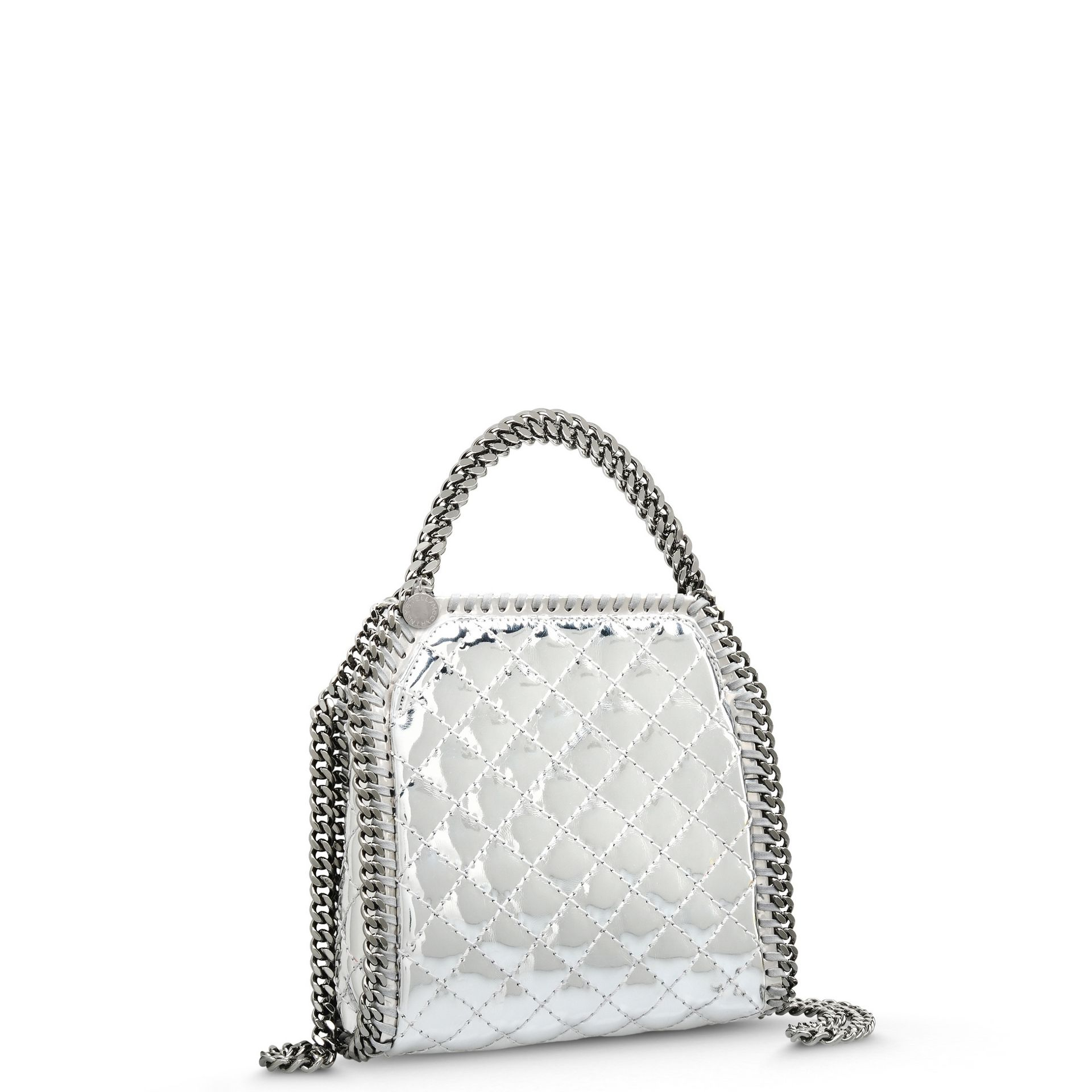 Stella McCartney Falabella Quilted Metallic Mini Tote Bag in ... 8e5e5f8bb8fe9