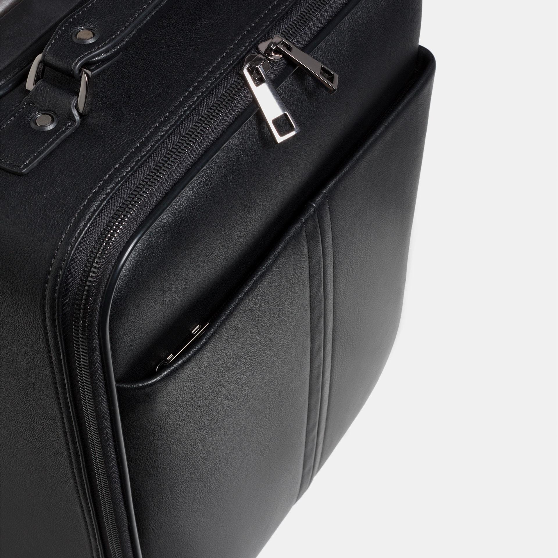 Zara Embossed Hand Luggage in Black for Men | Lyst