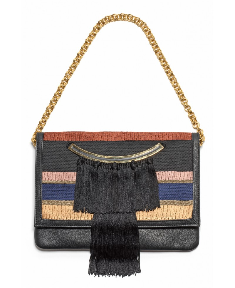 Clutch Lizzie Call Lyst Of Moroccan In Red Fringe Fortunato Port wXIHqpd