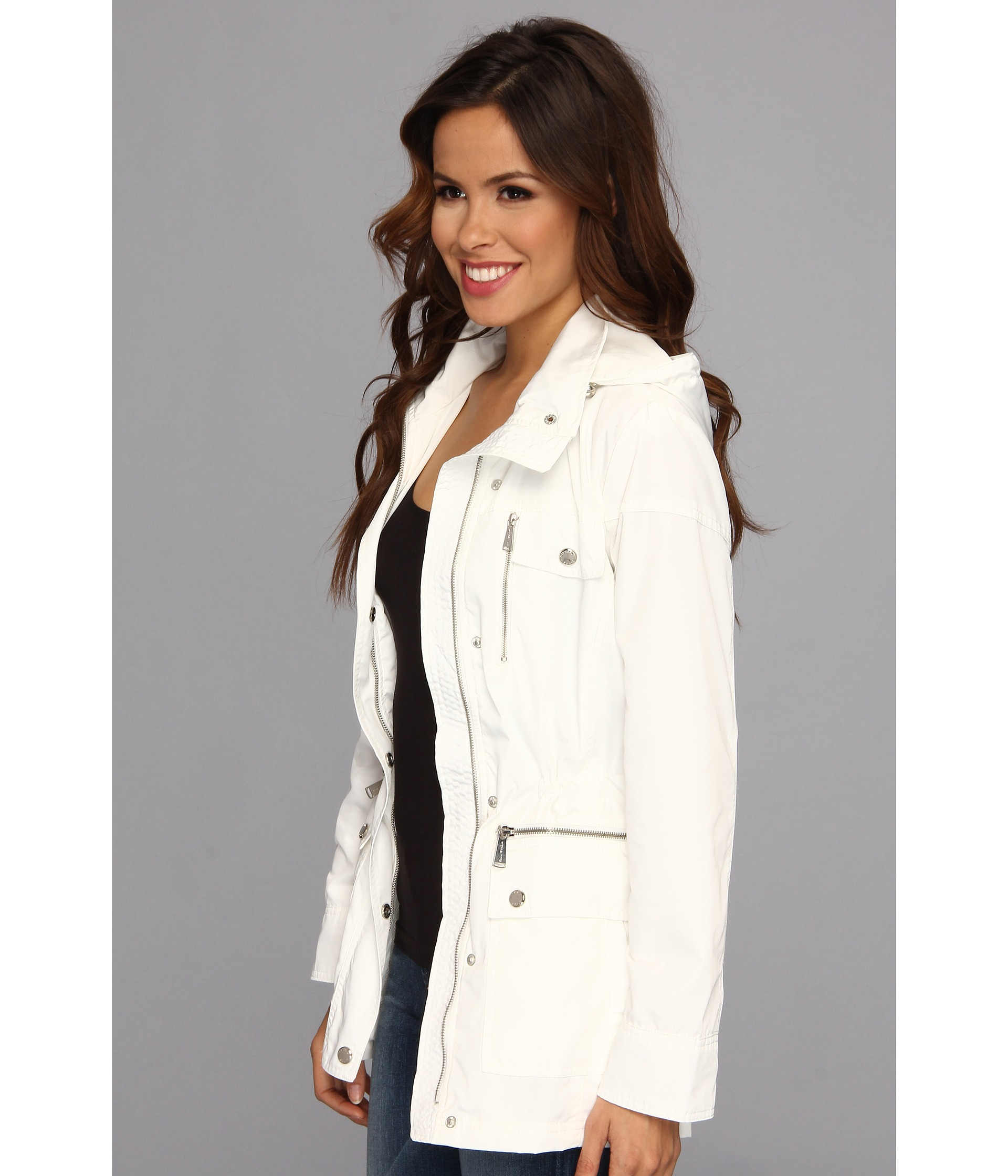Michael kors womens white coat