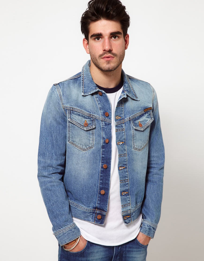Nudie jeans Nudie Denim Jacket Conny Light Wash in Blue for Men | Lyst
