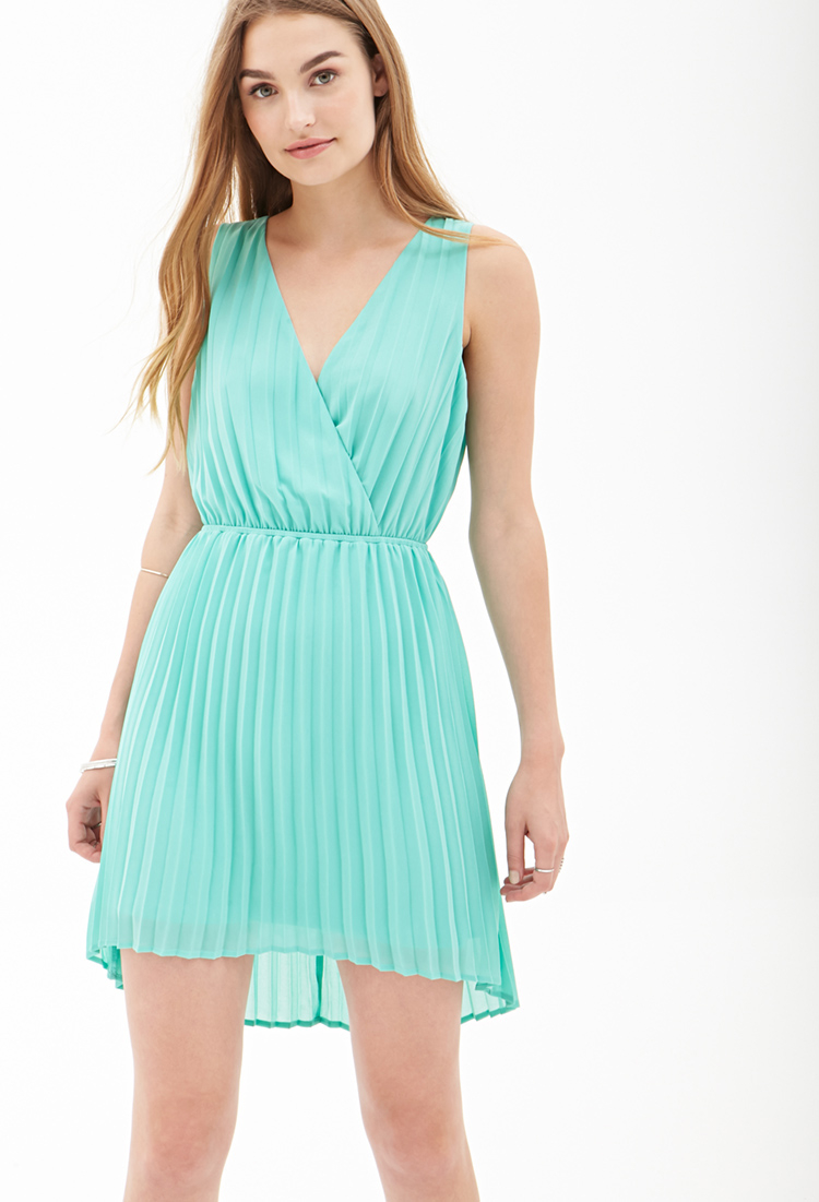 Forever 21 Pleated Chiffon Dress You've Been Added To The Waitlist ...