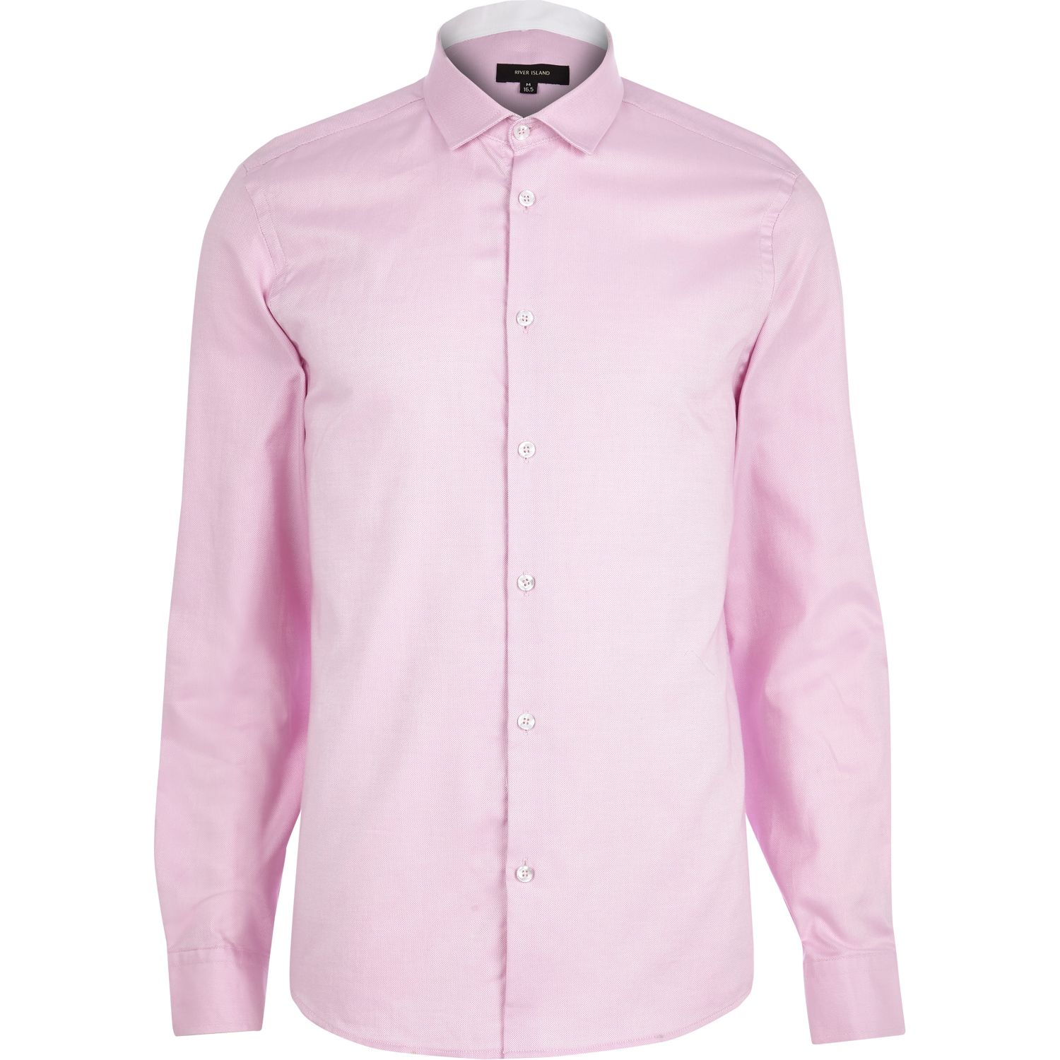 River island pink oxford shirt in pink for men lyst for Pink oxford shirt men